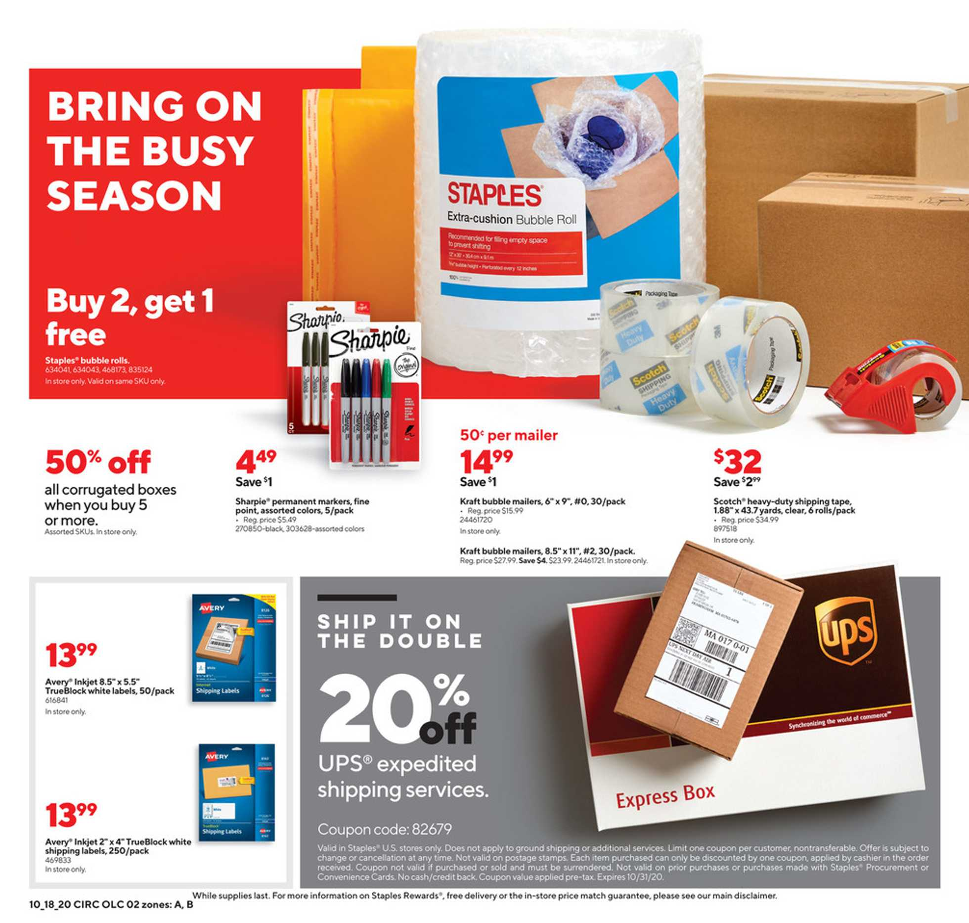 Staples - deals are valid from 10/18/20 to 10/24/20 - page 2.