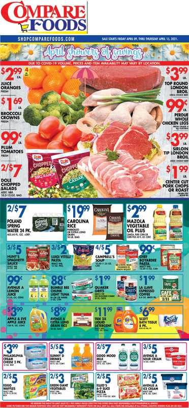 Compare Foods - deals are valid from 04/09/21 to 04/15/21 - page 1.