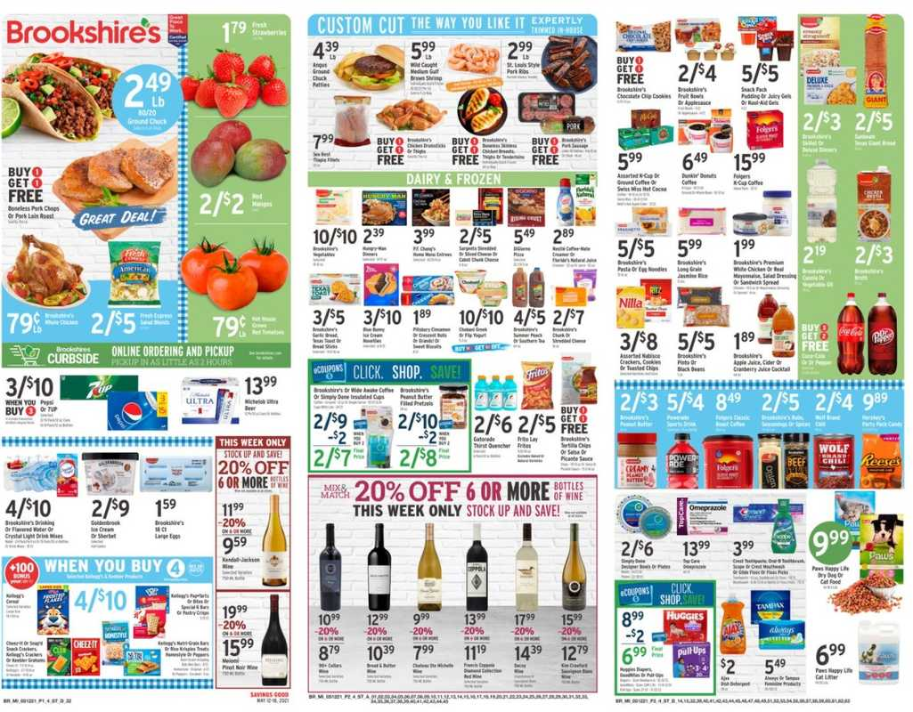 Brookshire's - deals are valid from 05/12/21 to 05/18/21 - page 1.