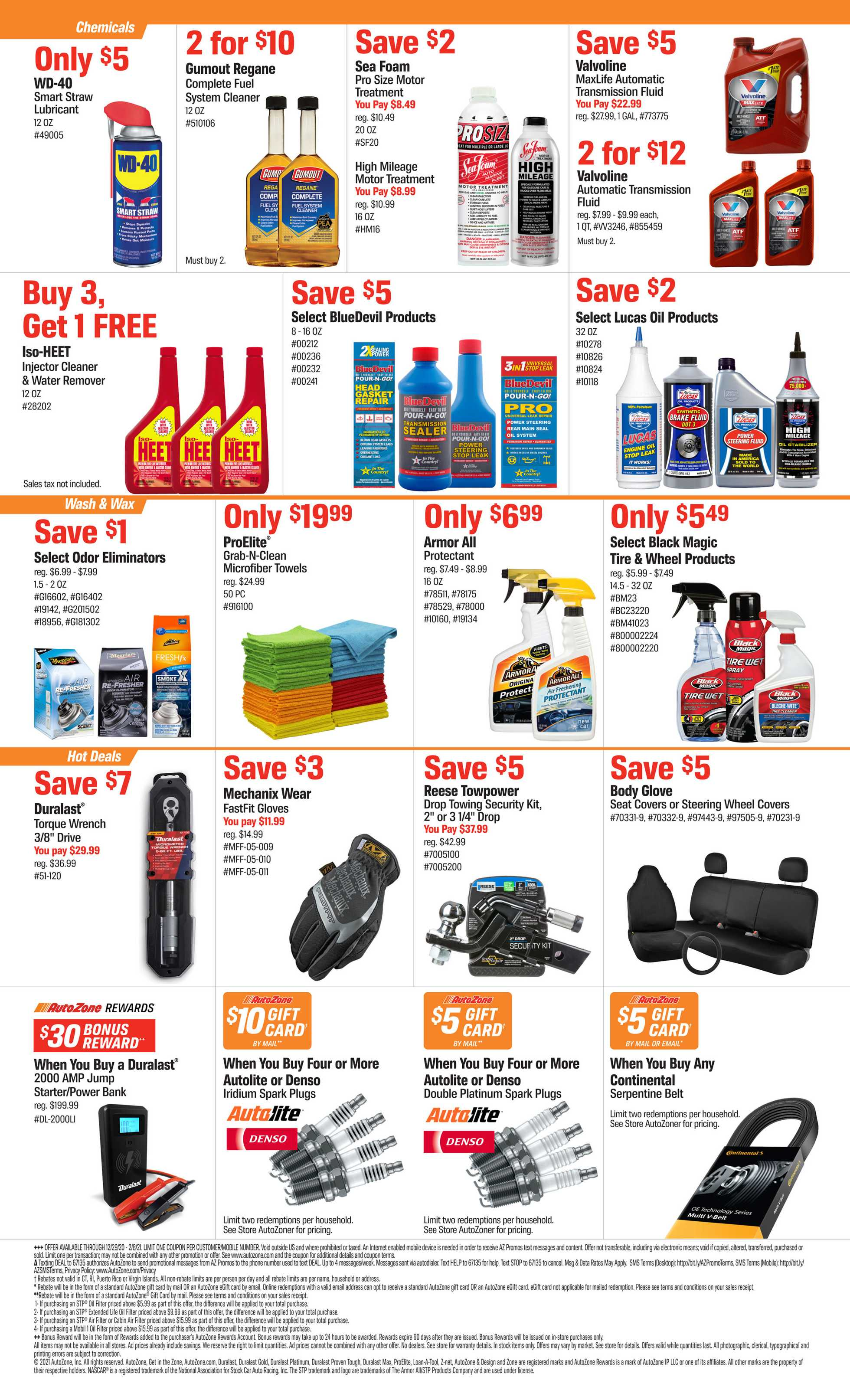 AutoZone - deals are valid from 12/29/20 to 02/08/21 - page 2.