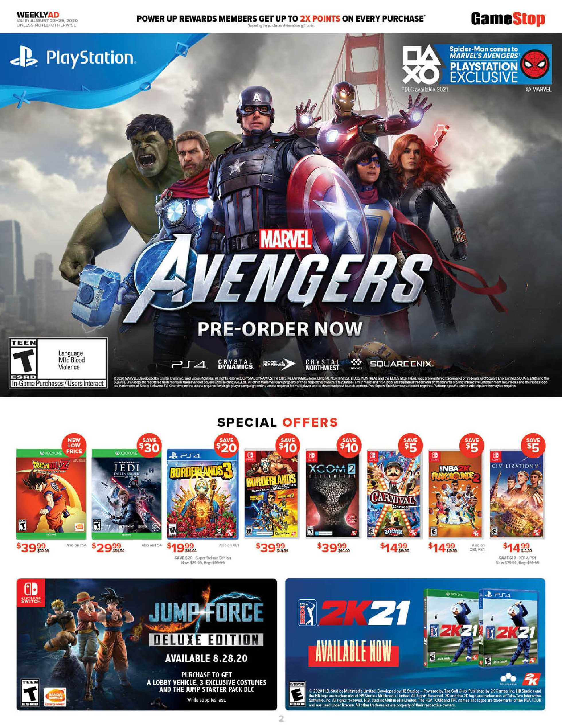 GameStop - deals are valid from 08/23/20 to 08/29/20 - page 2.