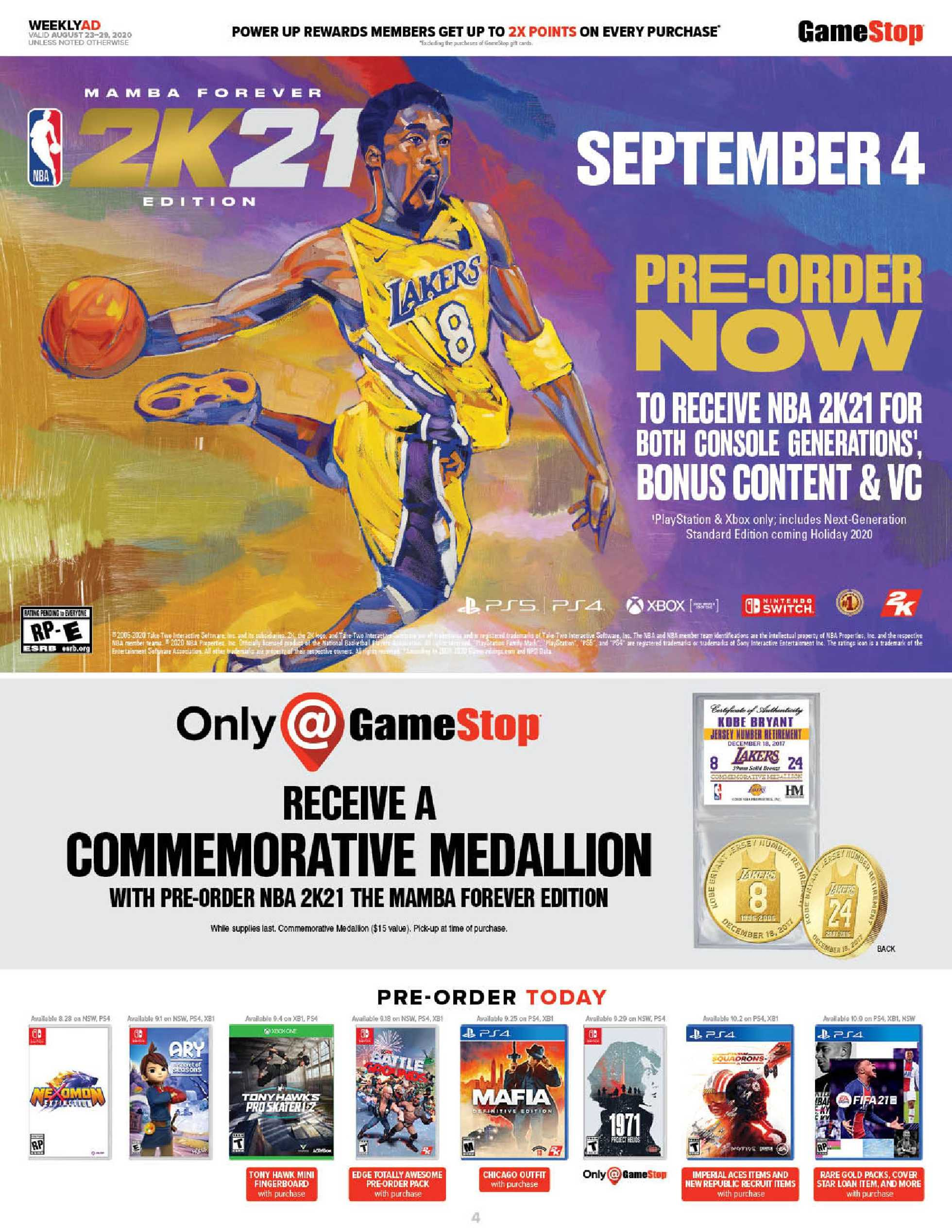 GameStop - deals are valid from 08/23/20 to 08/29/20 - page 4.