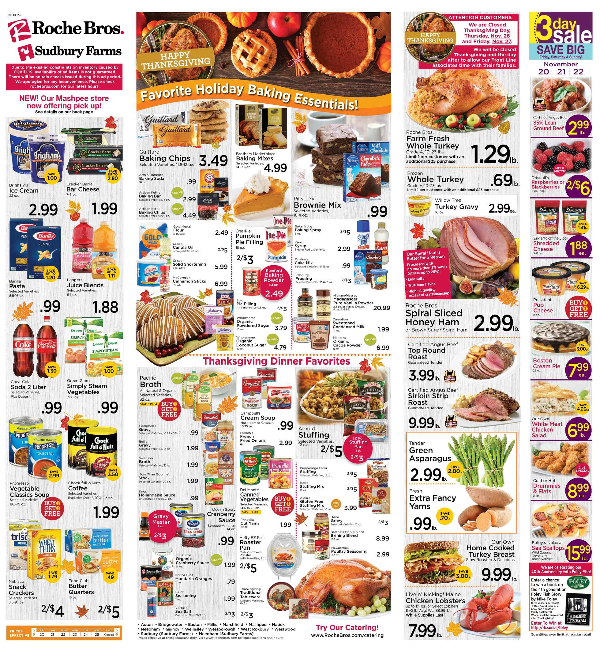 Roche Bros. - deals are valid from 11/20/20 to 11/26/20 - page 1.