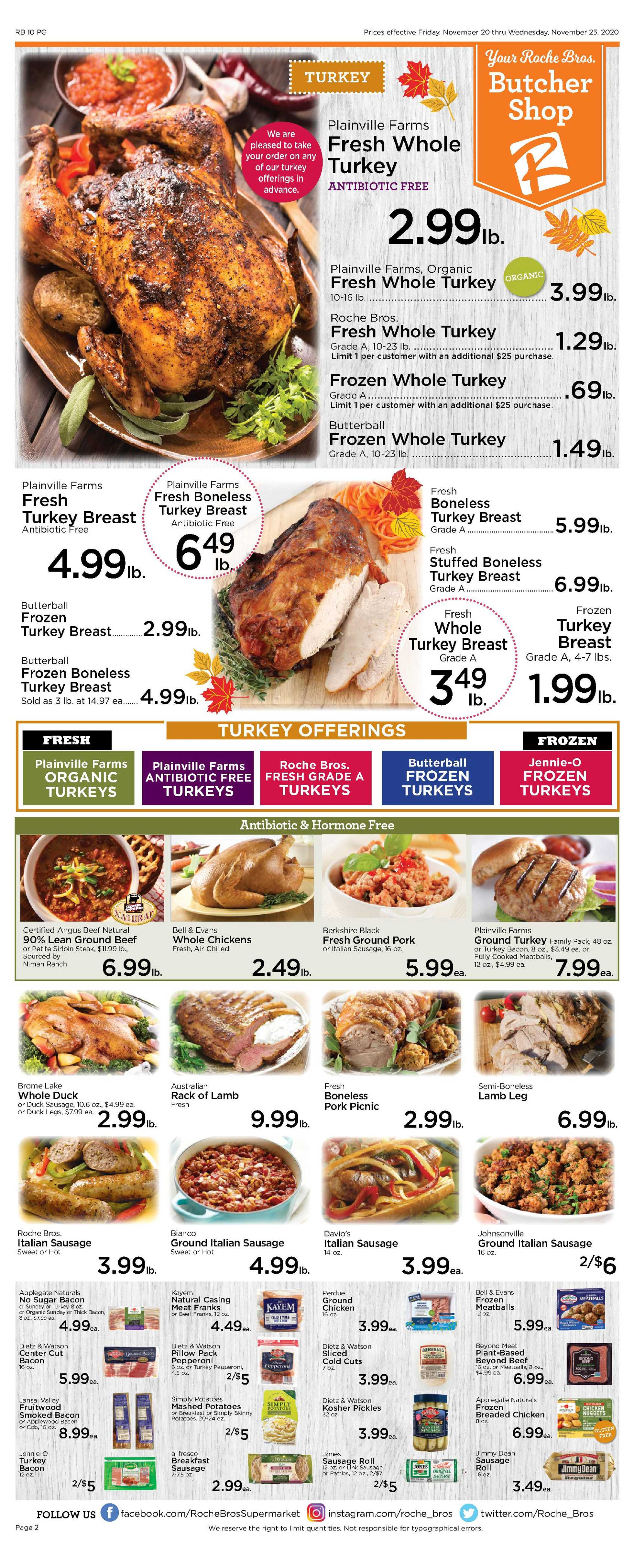 Roche Bros. - deals are valid from 11/20/20 to 11/26/20 - page 2.