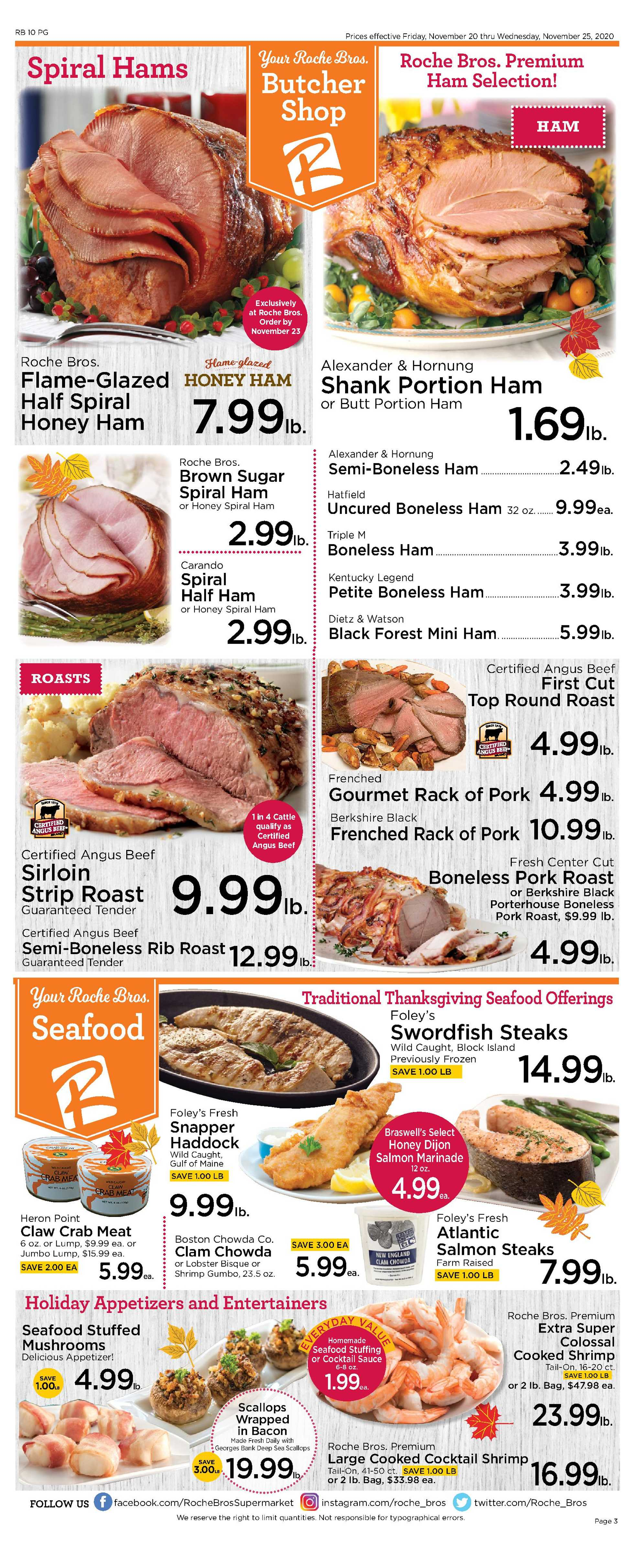 Roche Bros. - deals are valid from 11/20/20 to 11/26/20 - page 3.