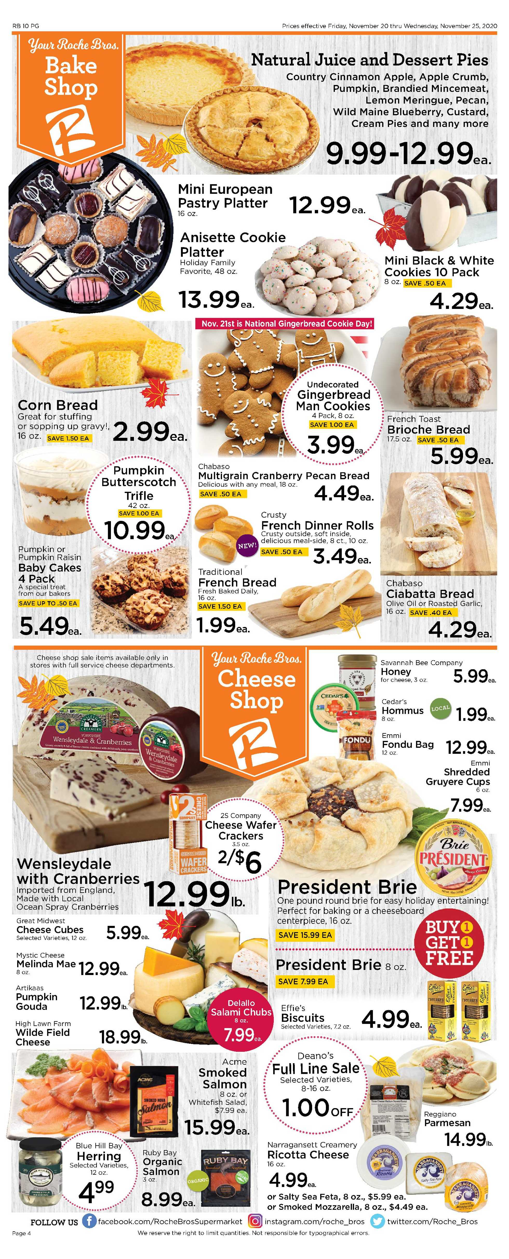 Roche Bros. - deals are valid from 11/20/20 to 11/26/20 - page 4.