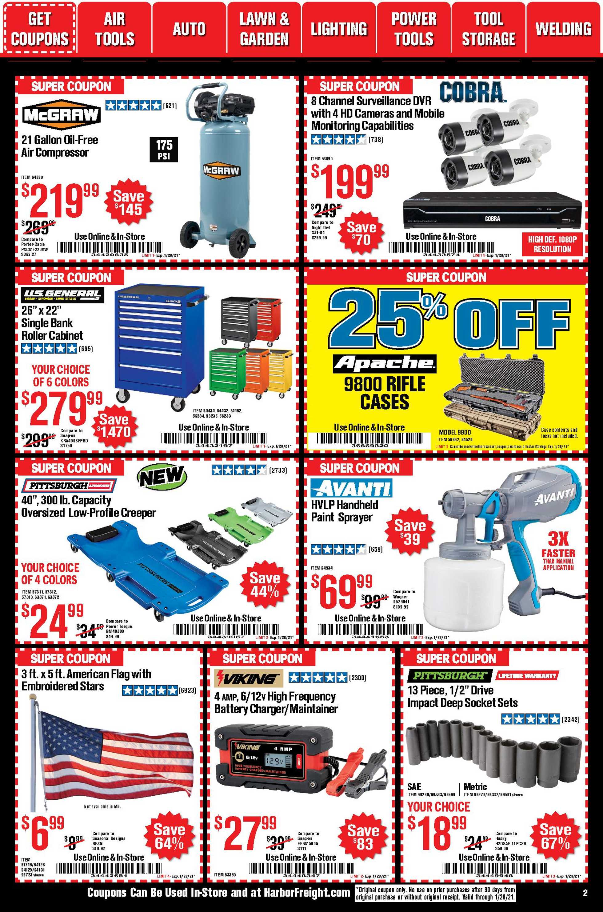Harbor Freight Tools - deals are valid from 01/01/21 to 01/31/21 - page 2.