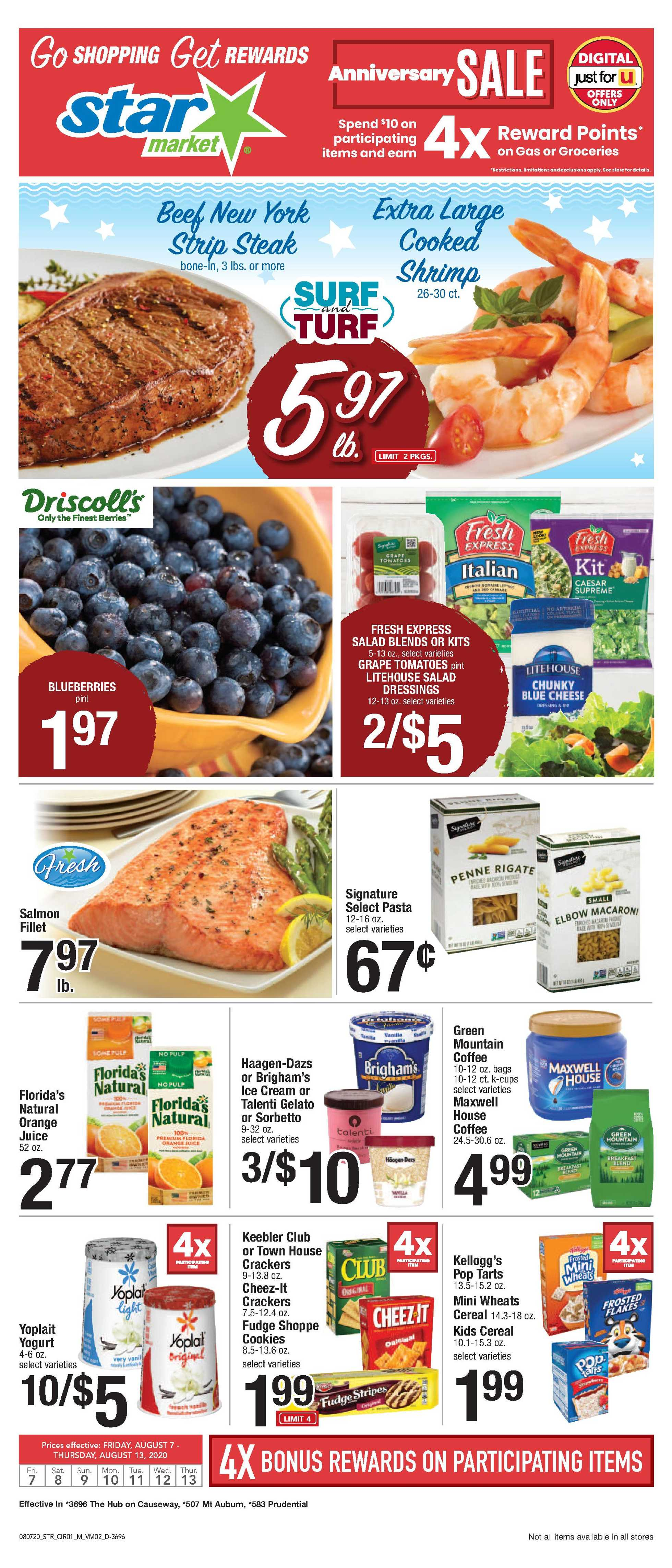 Star Market - deals are valid from 08/07/20 to 08/13/20 - page 1.