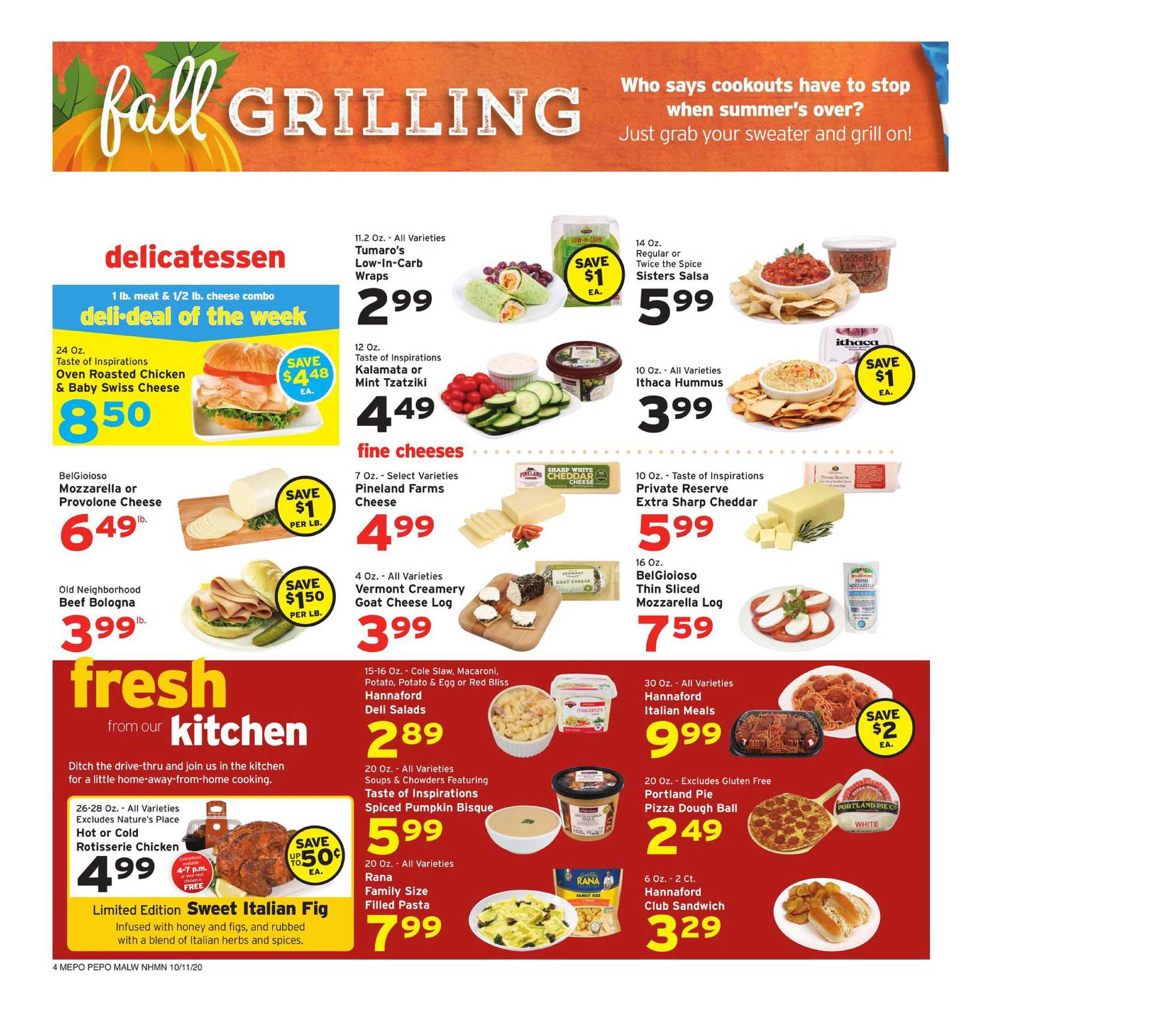 Hannaford - deals are valid from 10/11/20 to 10/17/20 - page 4.