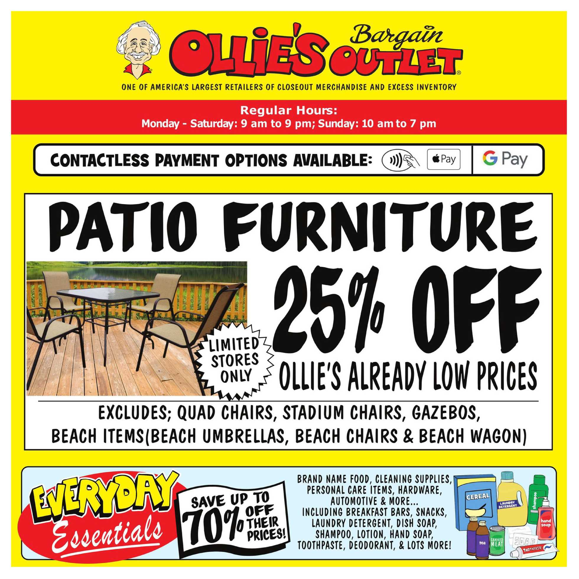 Ollie's Bargain Outlet - deals are valid from 07/15/20 to 07/22/20 - page 1.