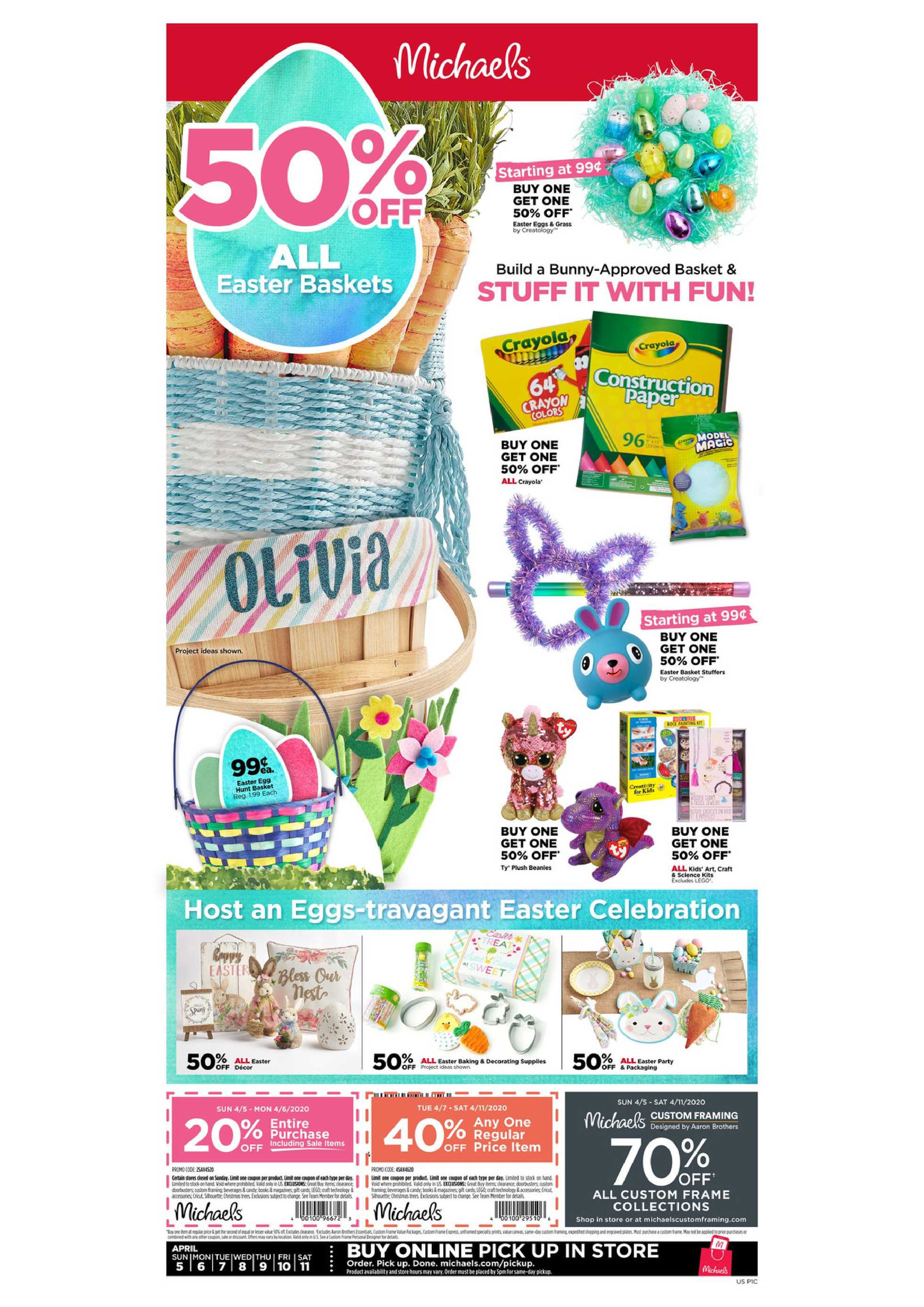 Michaels - deals are valid from 04/05/20 to 04/11/20 - page 1.