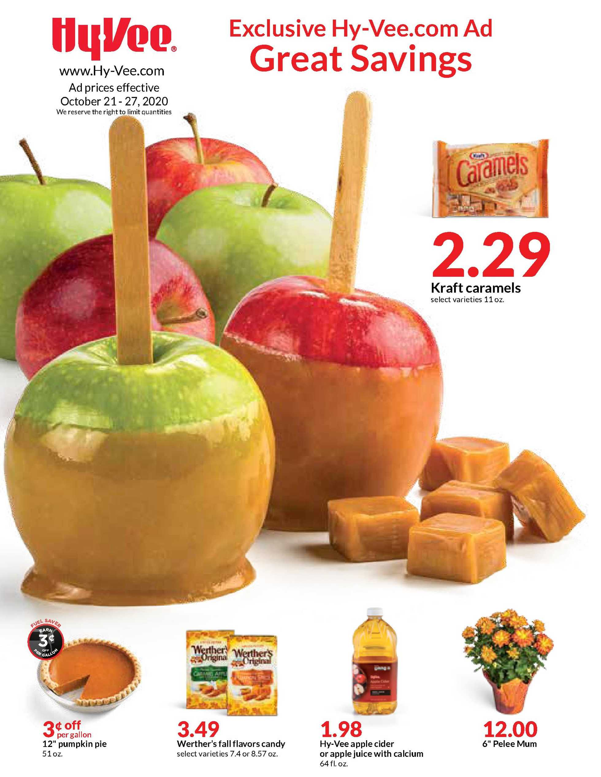 Hy-Vee - deals are valid from 10/21/20 to 10/27/20 - page 1.