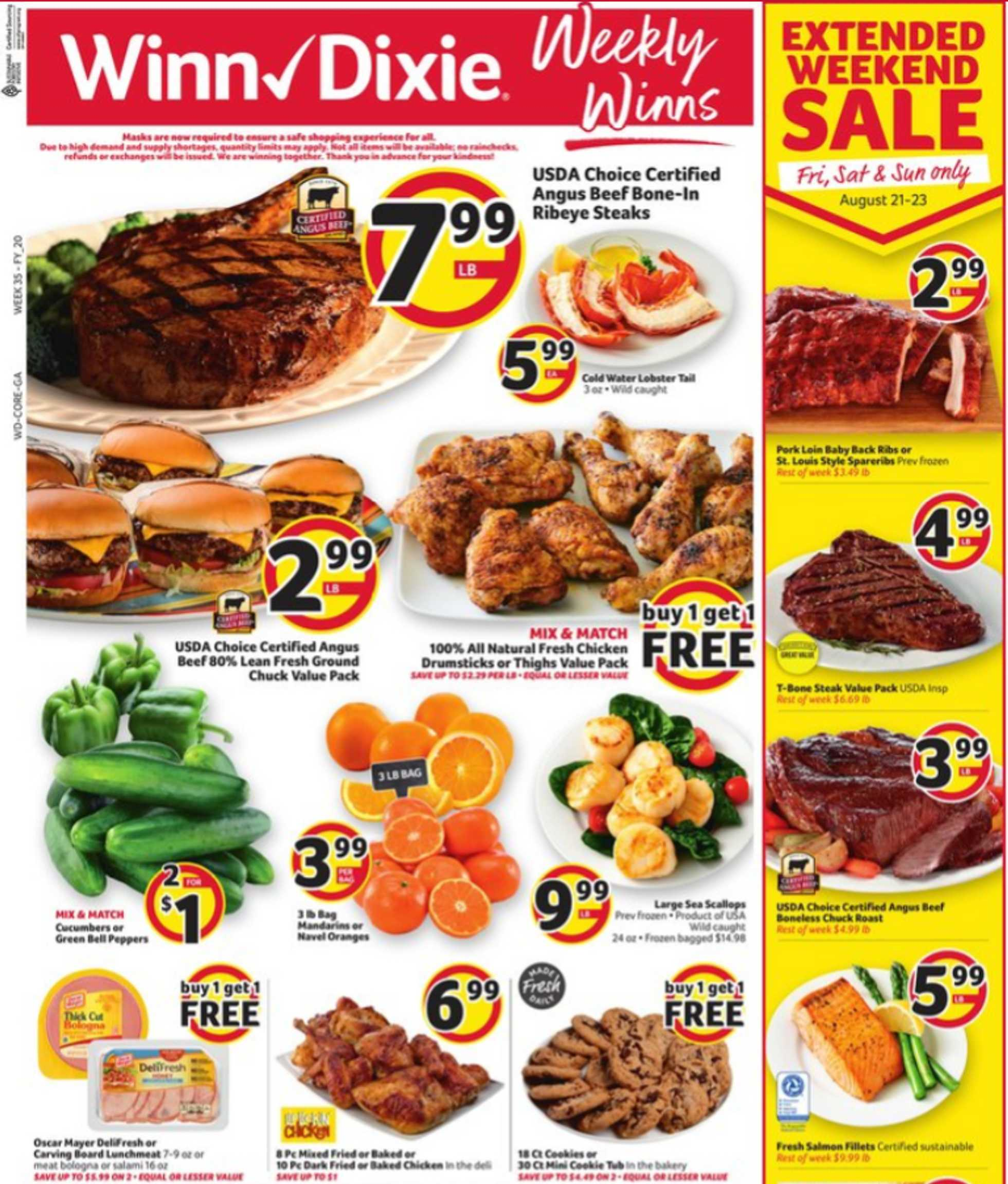 Winn Dixie - deals are valid from 08/19/20 to 08/26/20 - page 1.