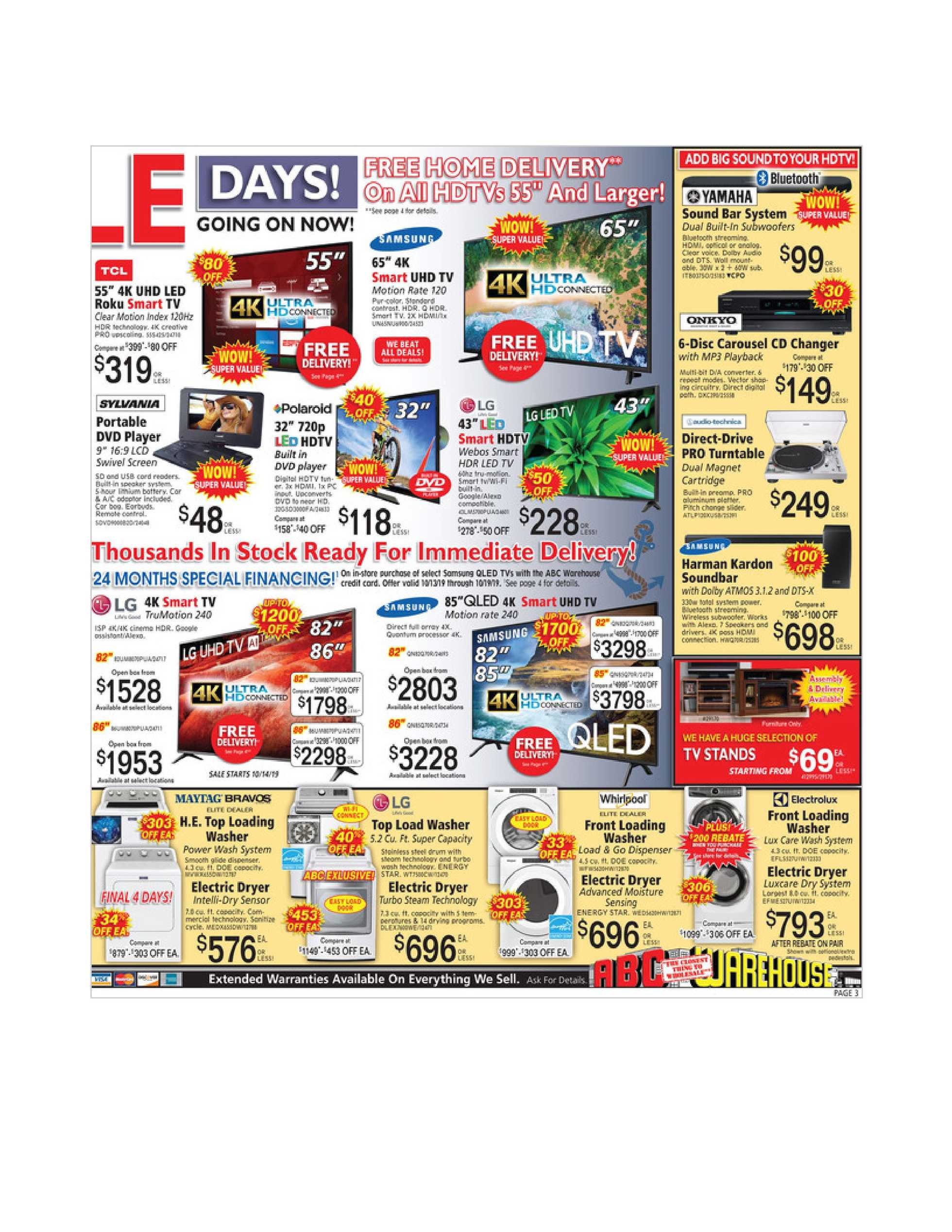 ABC Warehouse - deals are valid from 10/13/19 to 10/19/19 - page 3.