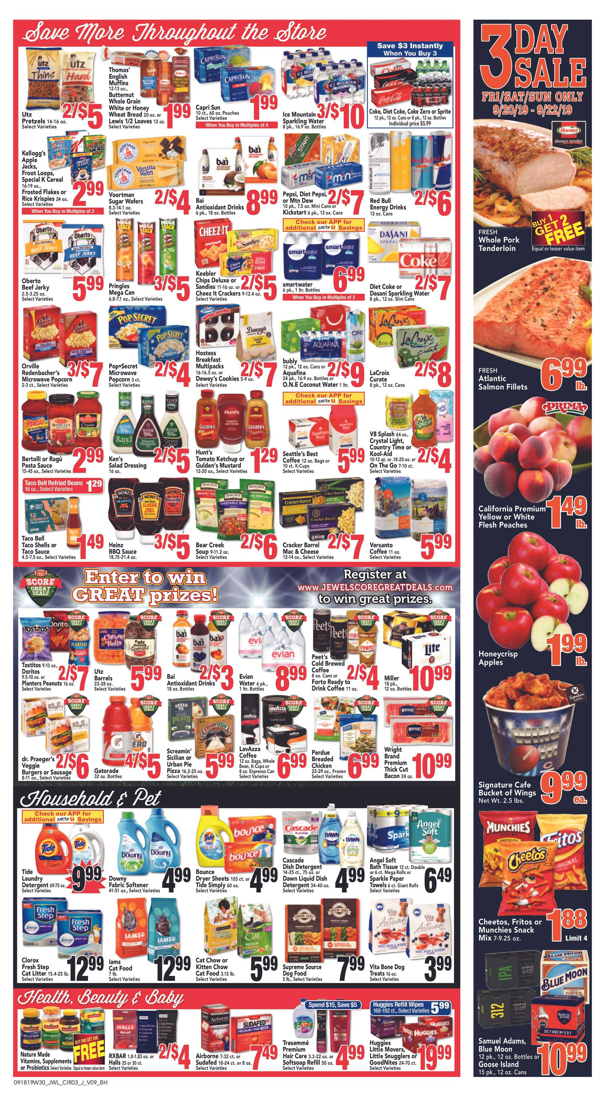 Jewel Osco - deals are valid from 09/18/19 to 09/24/19 - page 3.