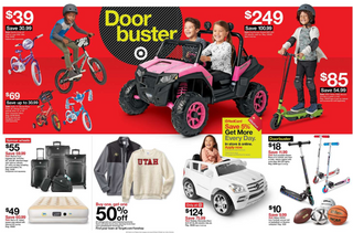 Target - promo starting from 11/28/19 to 11/30/19 - page 14. The promotion includes pink, wheels, loge