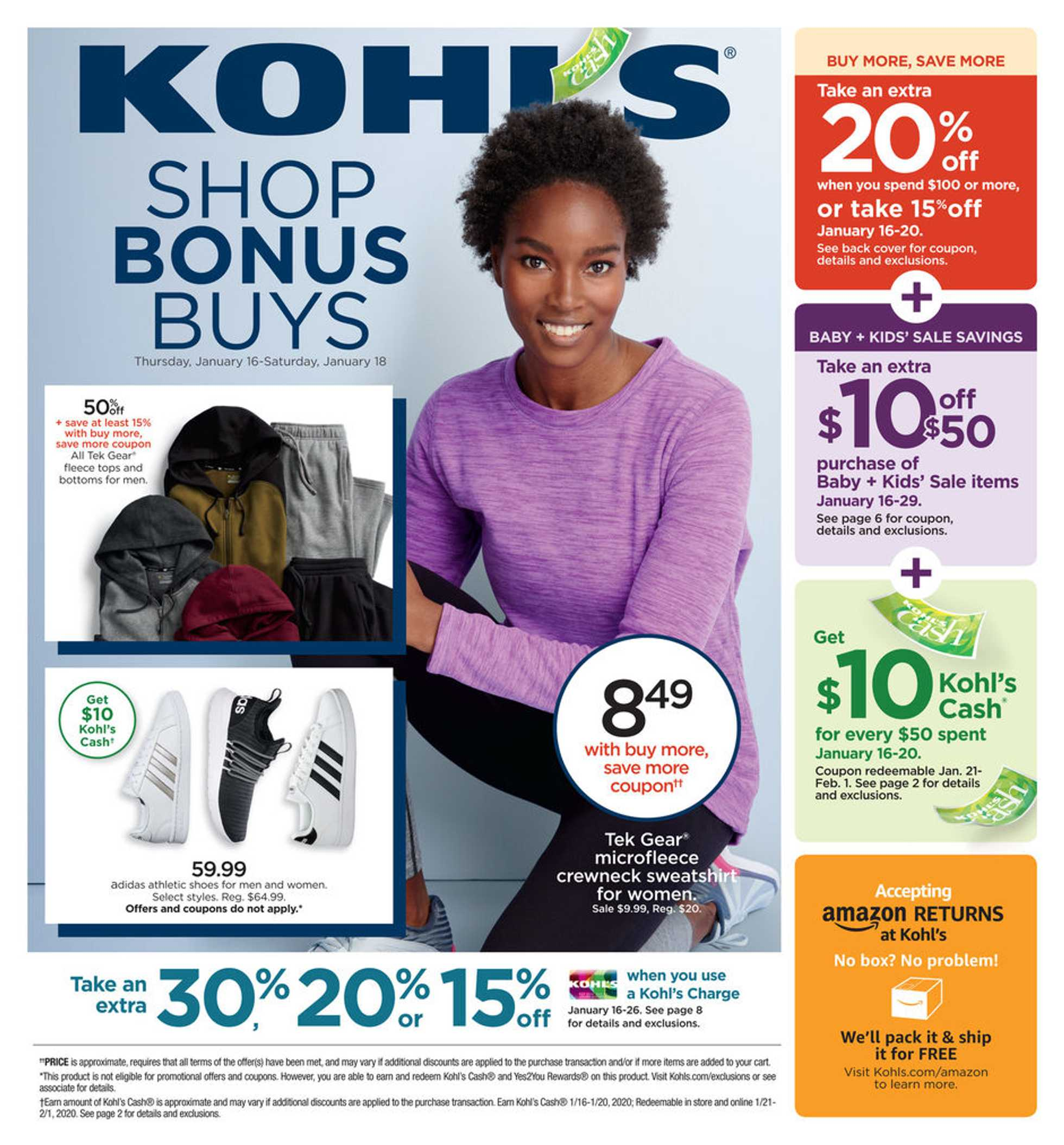 Kohl's - deals are valid from 01/16/20 to 01/26/20 - page 1.