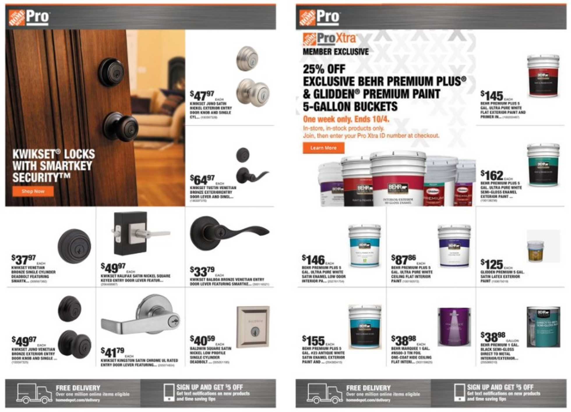 The Home Depot - deals are valid from 09/28/20 to 10/05/20 - page 1.