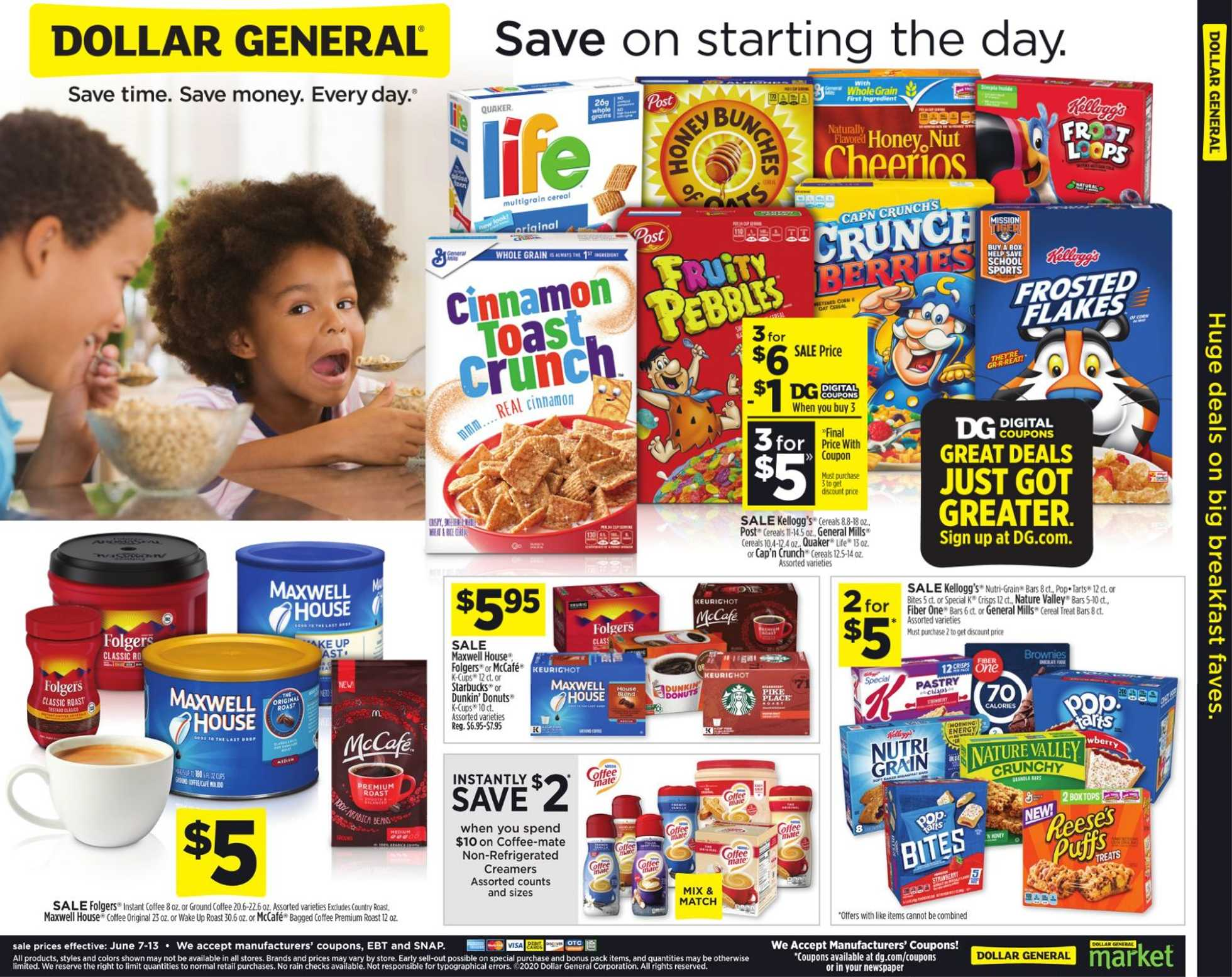 Dollar General - deals are valid from 06/07/20 to 06/13/20 - page 1.