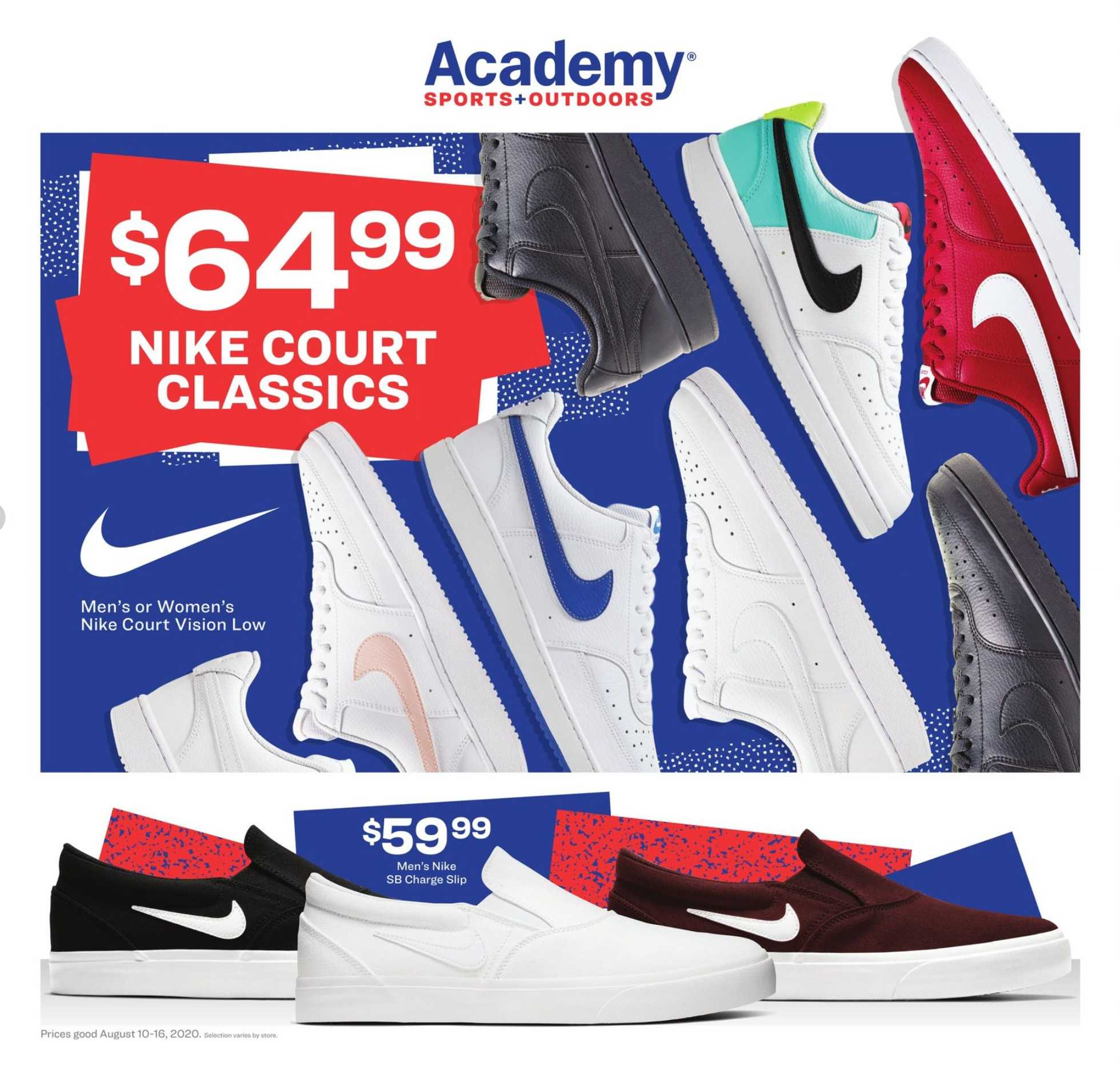 Academy Sports + Outdoors - deals are valid from 08/10/20 to 08/16/20 - page 1.