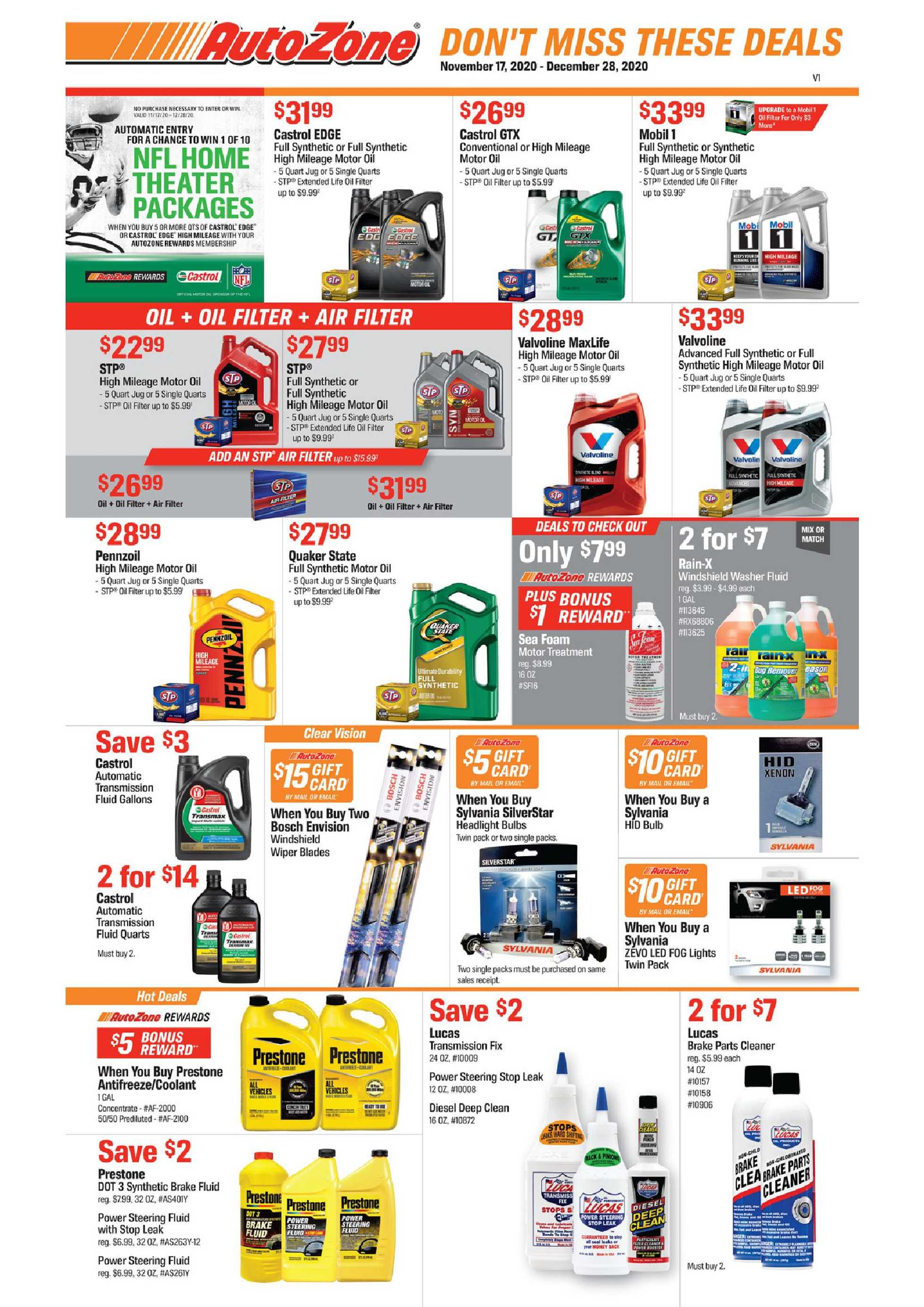 AutoZone - deals are valid from 11/17/20 to 12/28/20 - page 1.