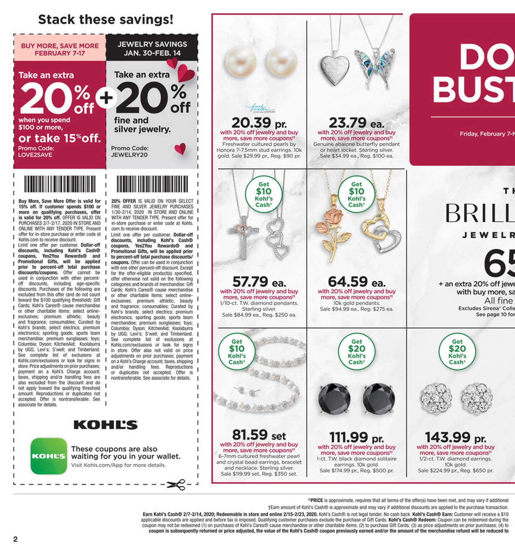 Kohl's - deals are valid from 02/07/20 to 02/17/20 - page 2.