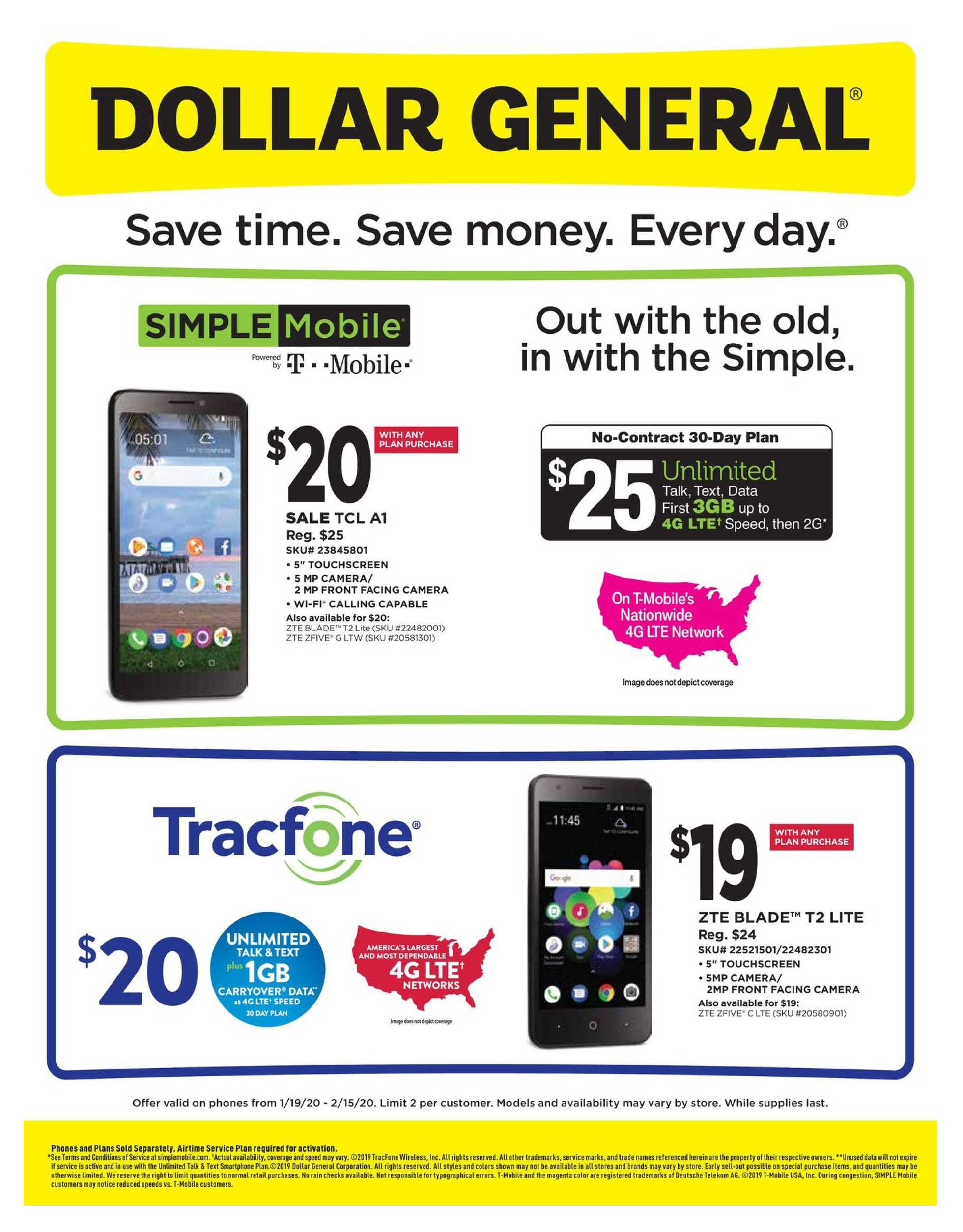 Dollar General - deals are valid from 01/19/20 to 02/15/20 - page 1.