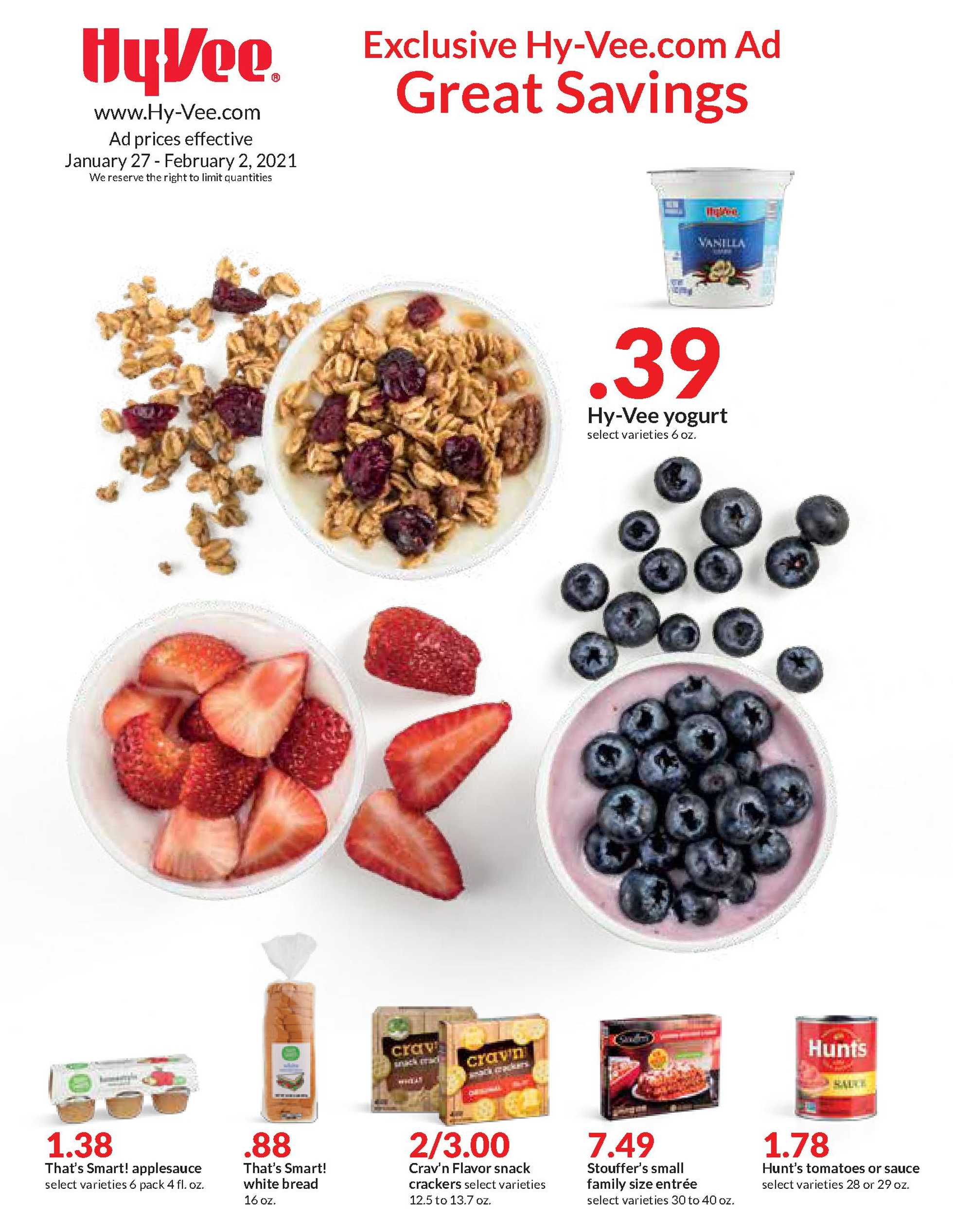Hy-Vee - deals are valid from 01/27/21 to 02/02/21 - page 1.