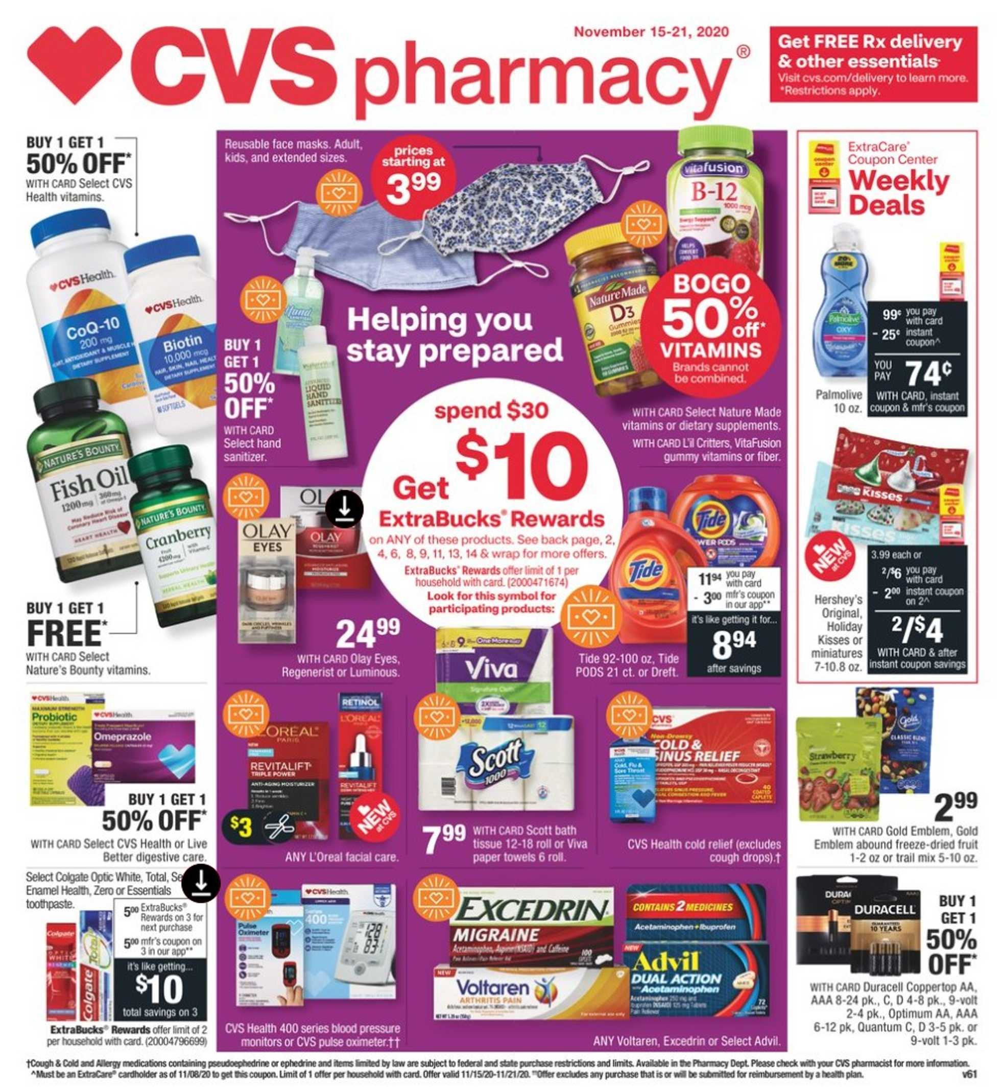 CVS - deals are valid from 11/15/20 to 11/21/20 - page 1.
