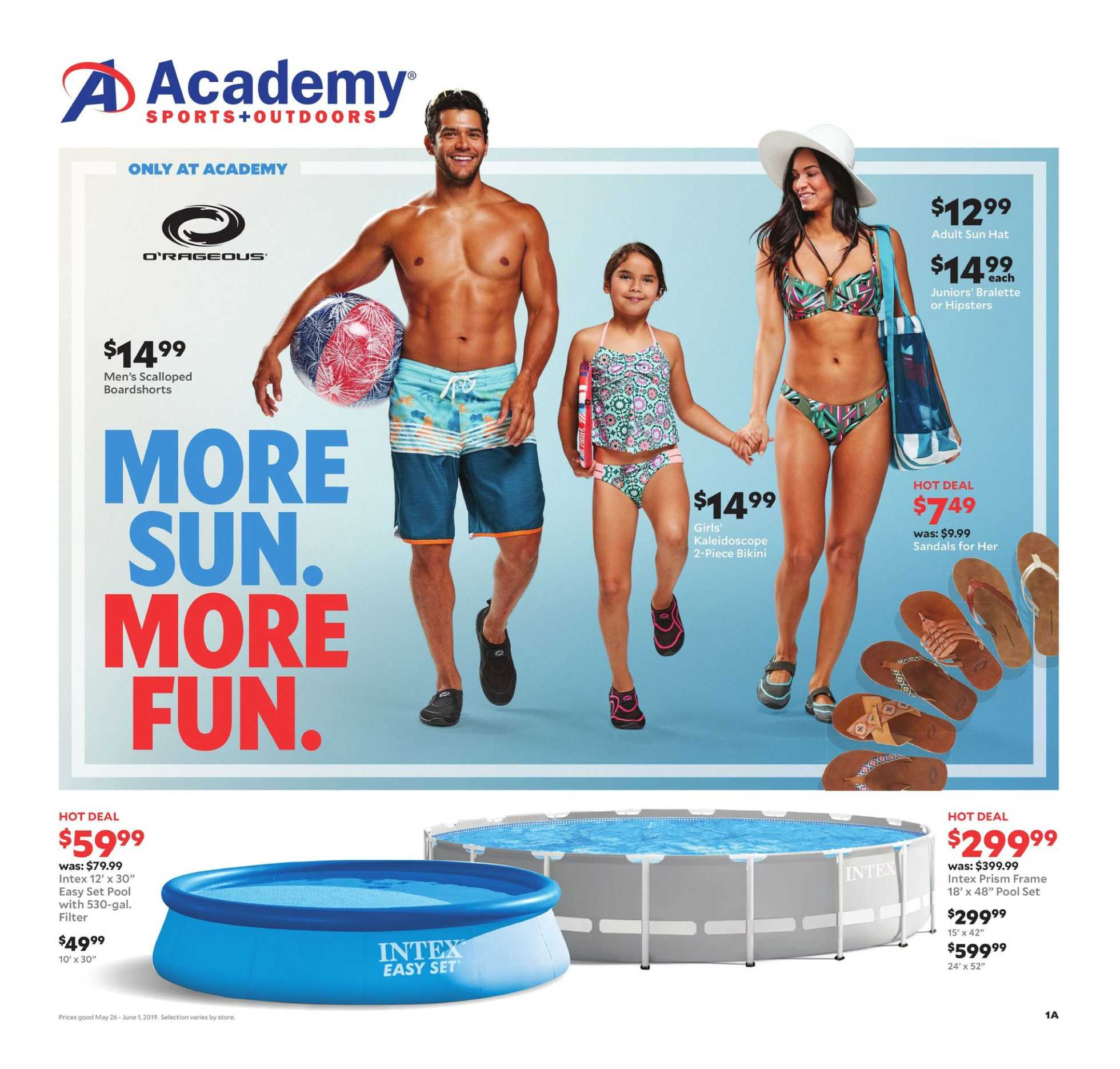 Academy Sports + Outdoors - deals are valid from 05/26/19 to 06/01/19 - page 1.
