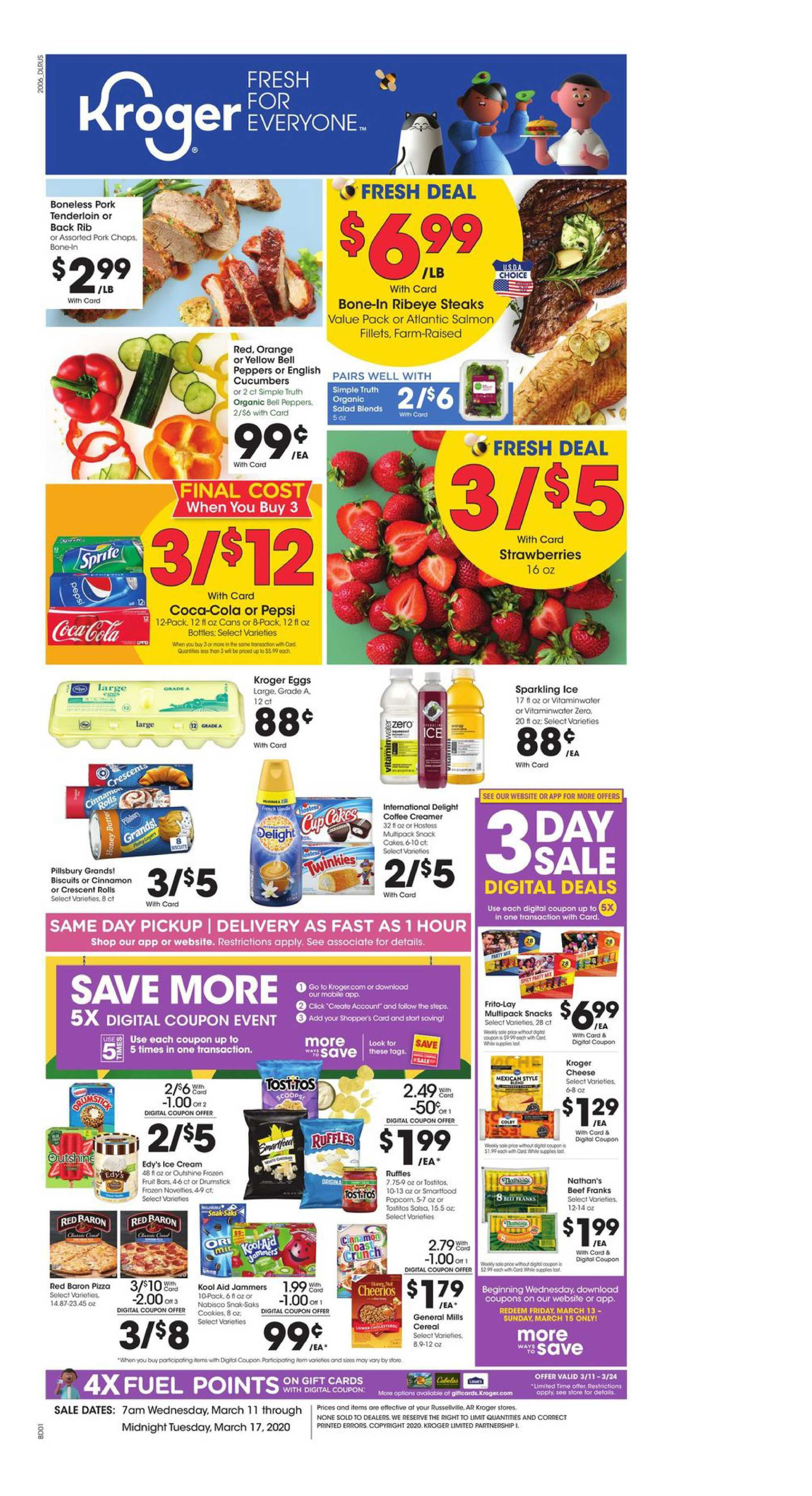 Kroger - deals are valid from 03/11/20 to 03/17/20 - page 1.