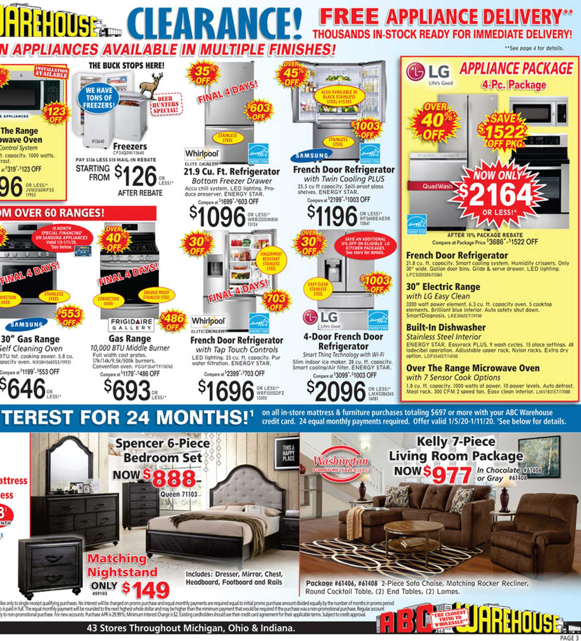 ABC Warehouse - deals are valid from 01/05/20 to 01/11/20 - page 3.