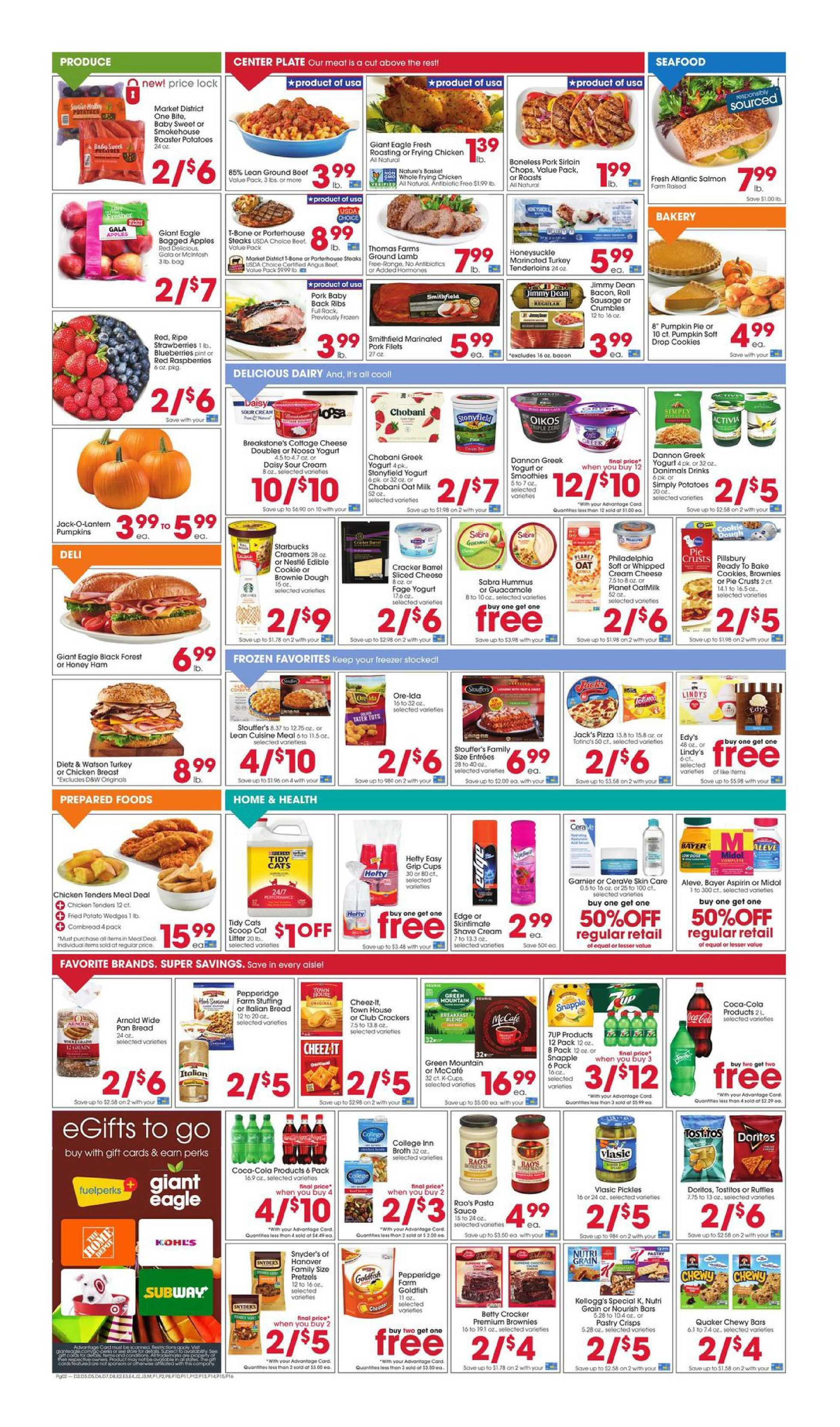 Giant Eagle - deals are valid from 10/15/20 to 10/21/20 - page 2.