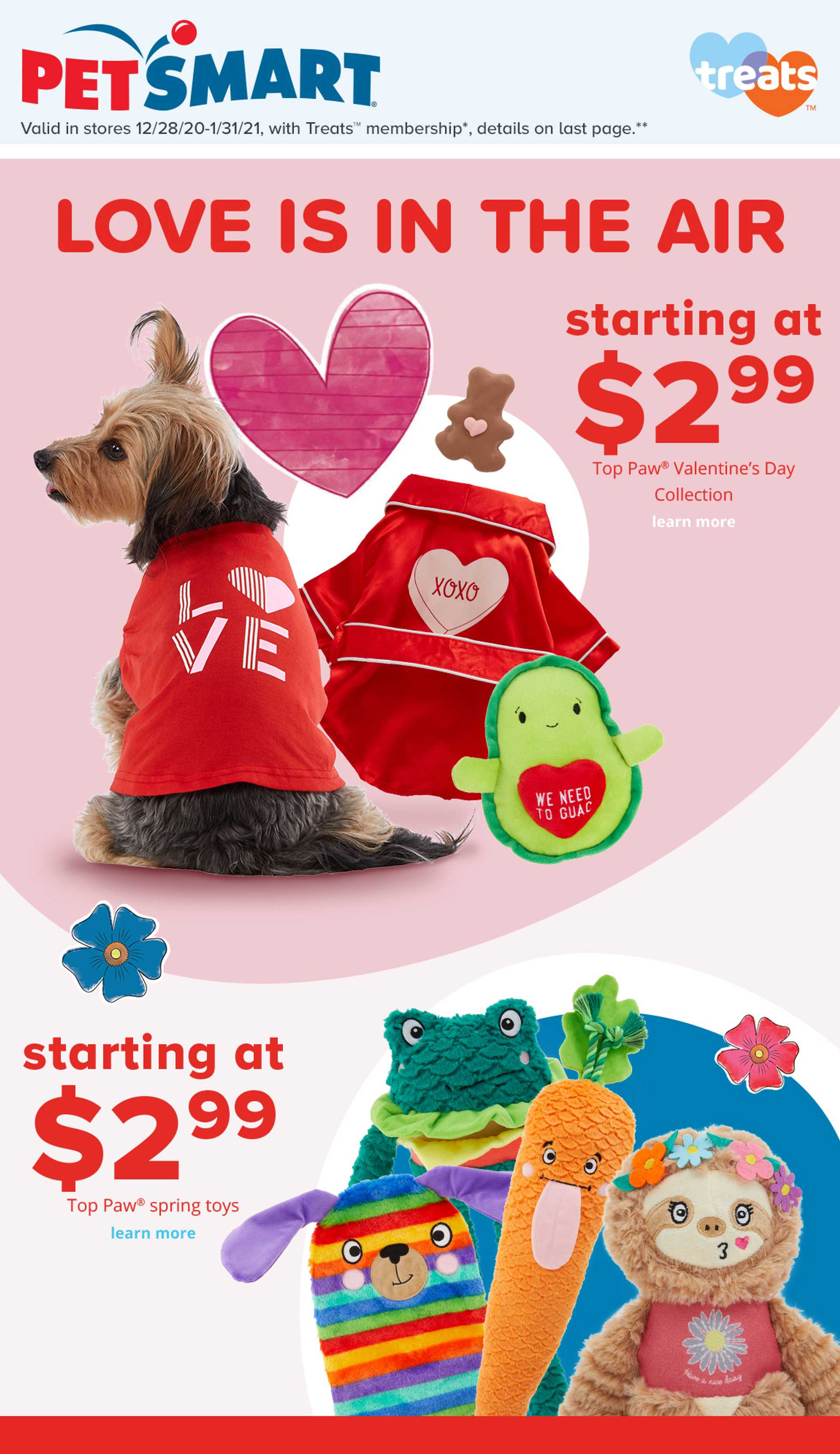 PetSmart - deals are valid from 12/28/20 to 01/31/21 - page 1.