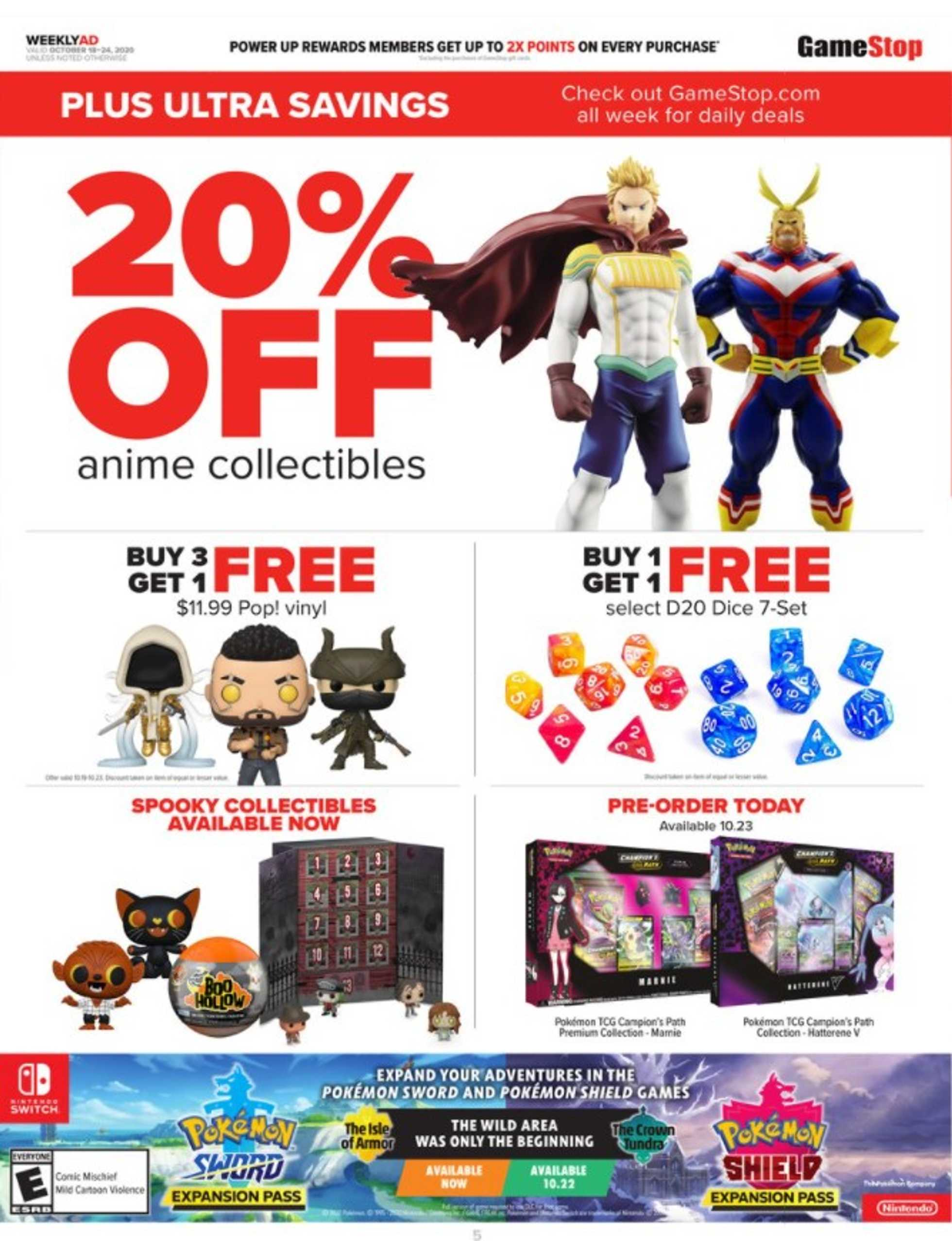 GameStop - deals are valid from 10/18/20 to 10/24/20 - page 4.