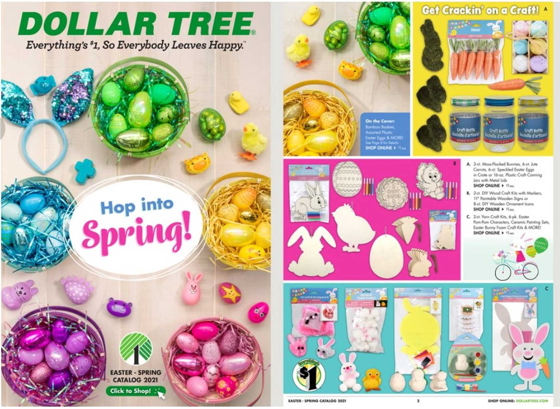 Dollar Tree - deals are valid from 01/17/21 to 04/04/21 - page 1.