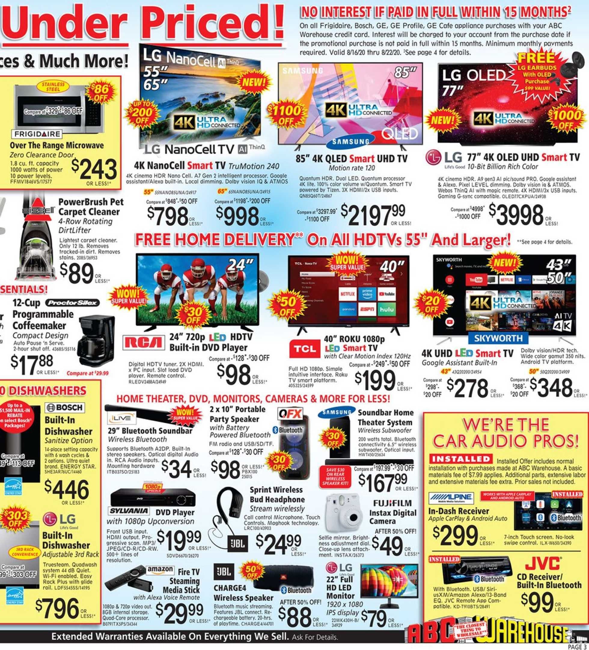 ABC Warehouse - deals are valid from 08/16/20 to 08/22/20 - page 3.