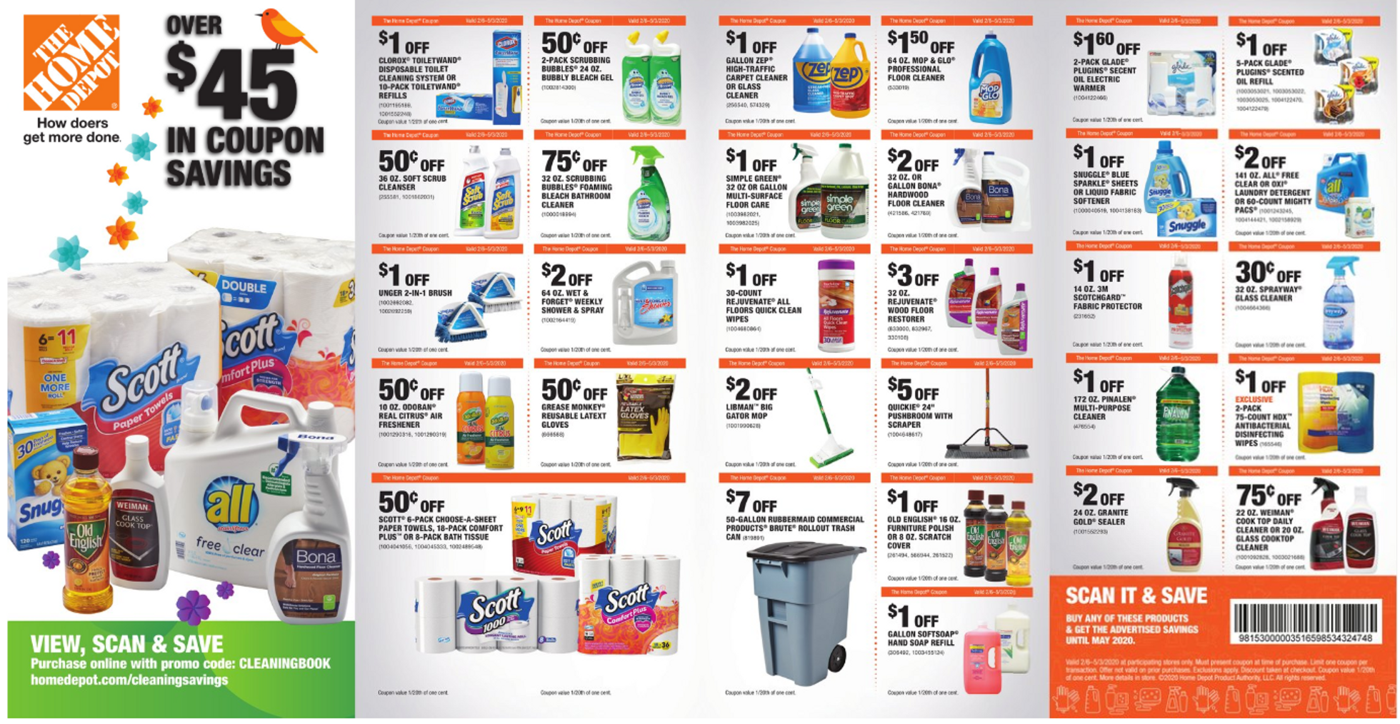 The Home Depot - deals are valid from 02/06/20 to 05/03/20 - page 1.
