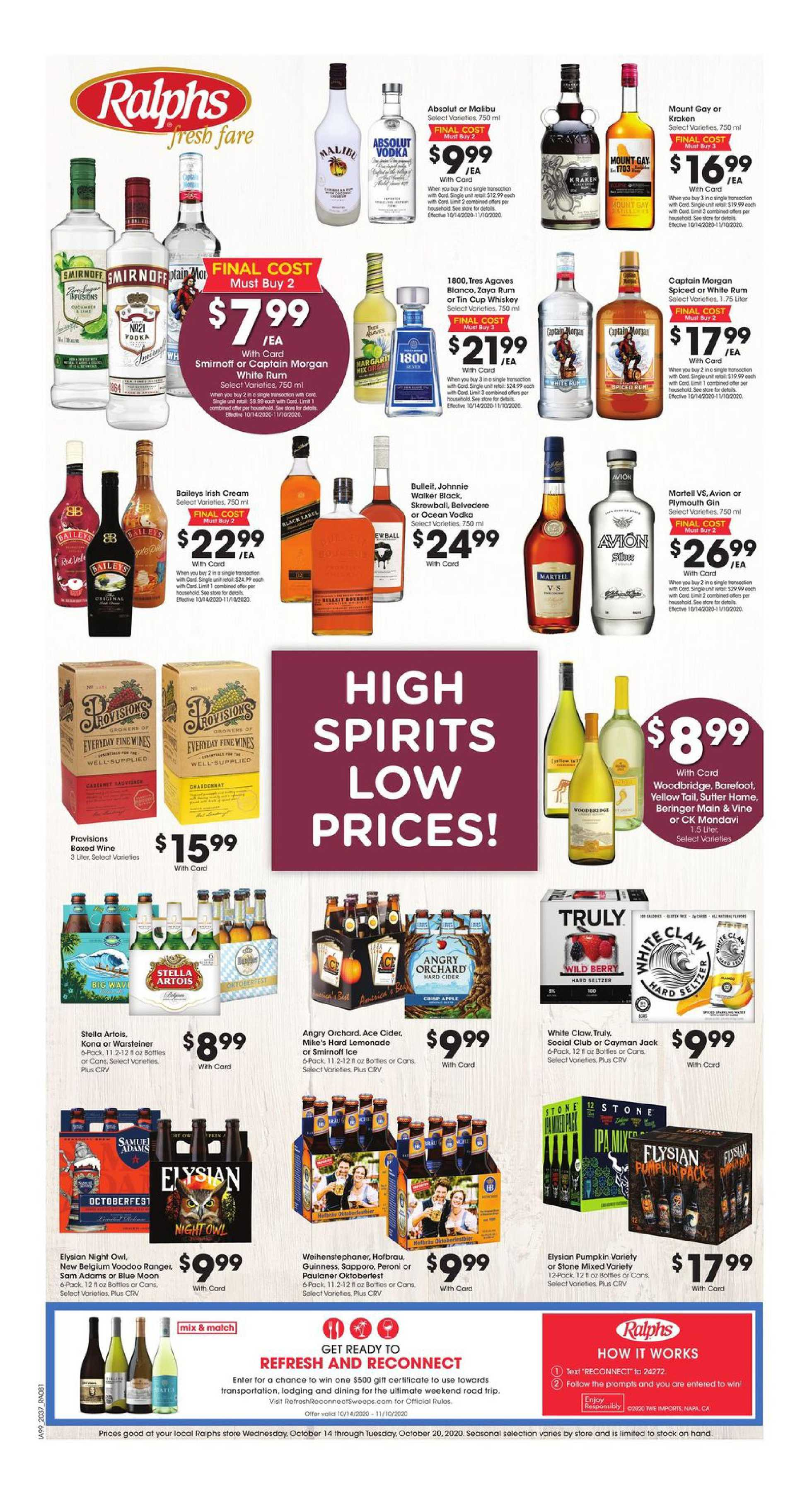 Ralphs - deals are valid from 10/14/20 to 10/20/20 - page 1.