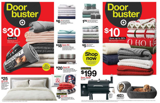 Target - promo starting from 11/28/19 to 11/30/19 - page 22. The promotion includes towel, beds, blanket