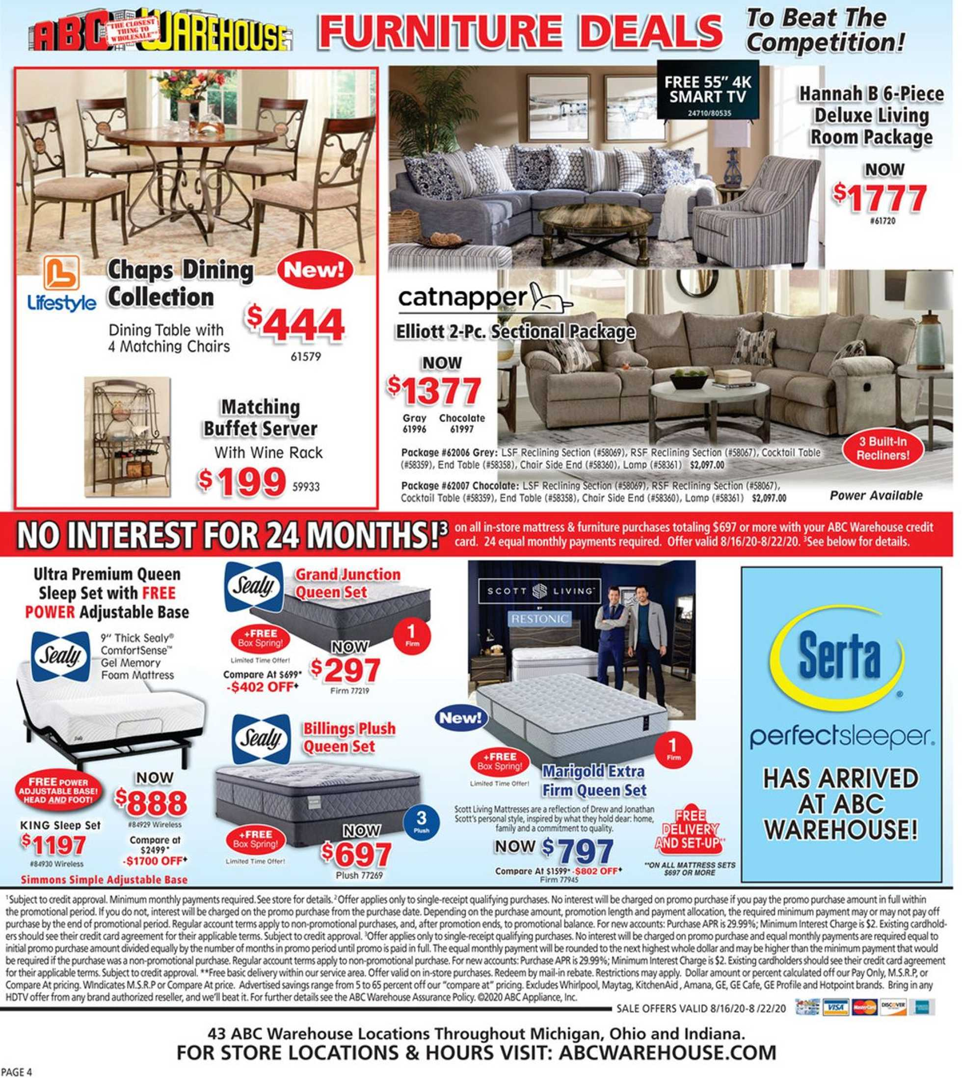 ABC Warehouse - deals are valid from 08/16/20 to 08/22/20 - page 4.
