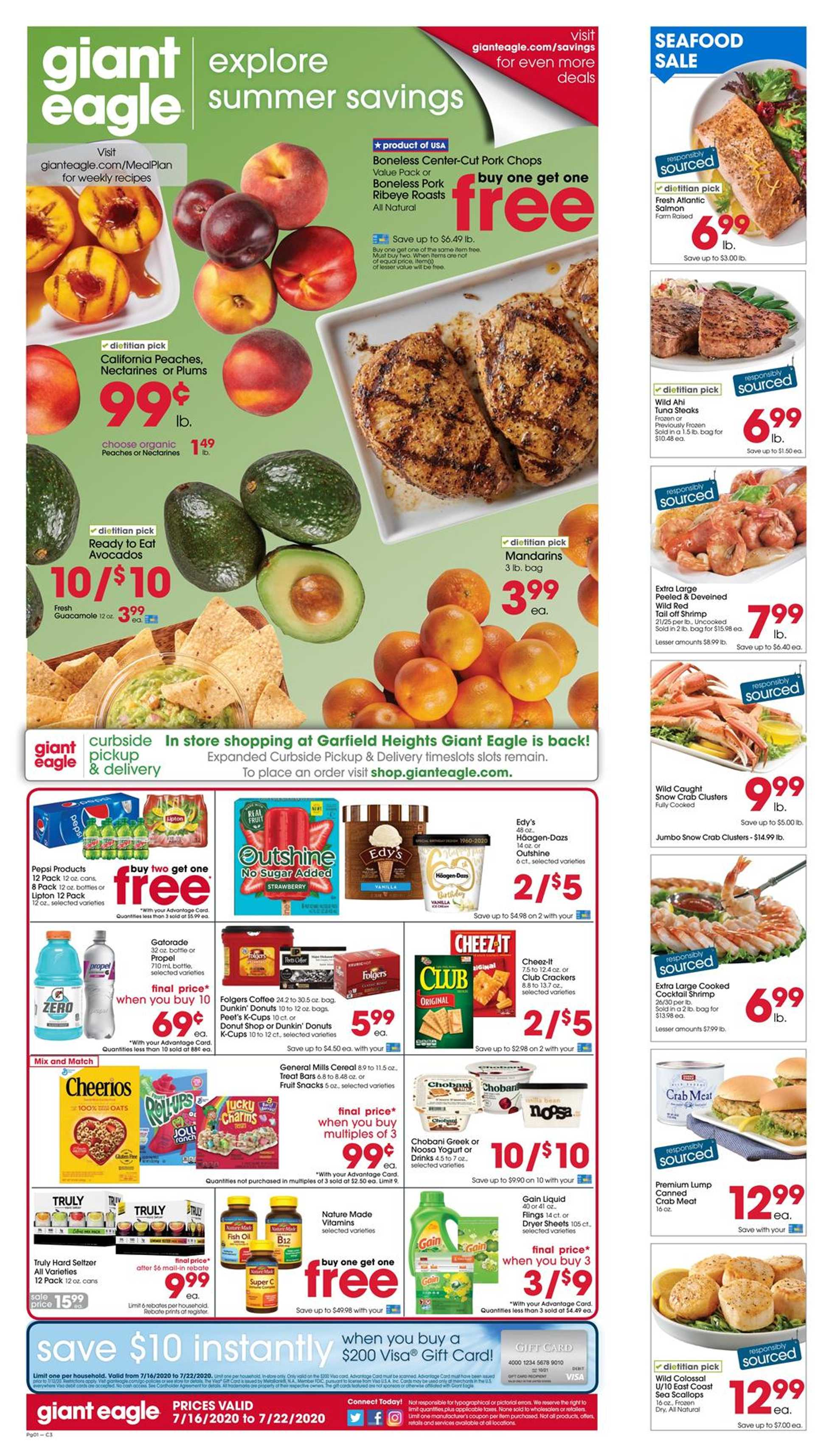 Giant Eagle - deals are valid from 07/16/20 to 07/22/20 - page 1.