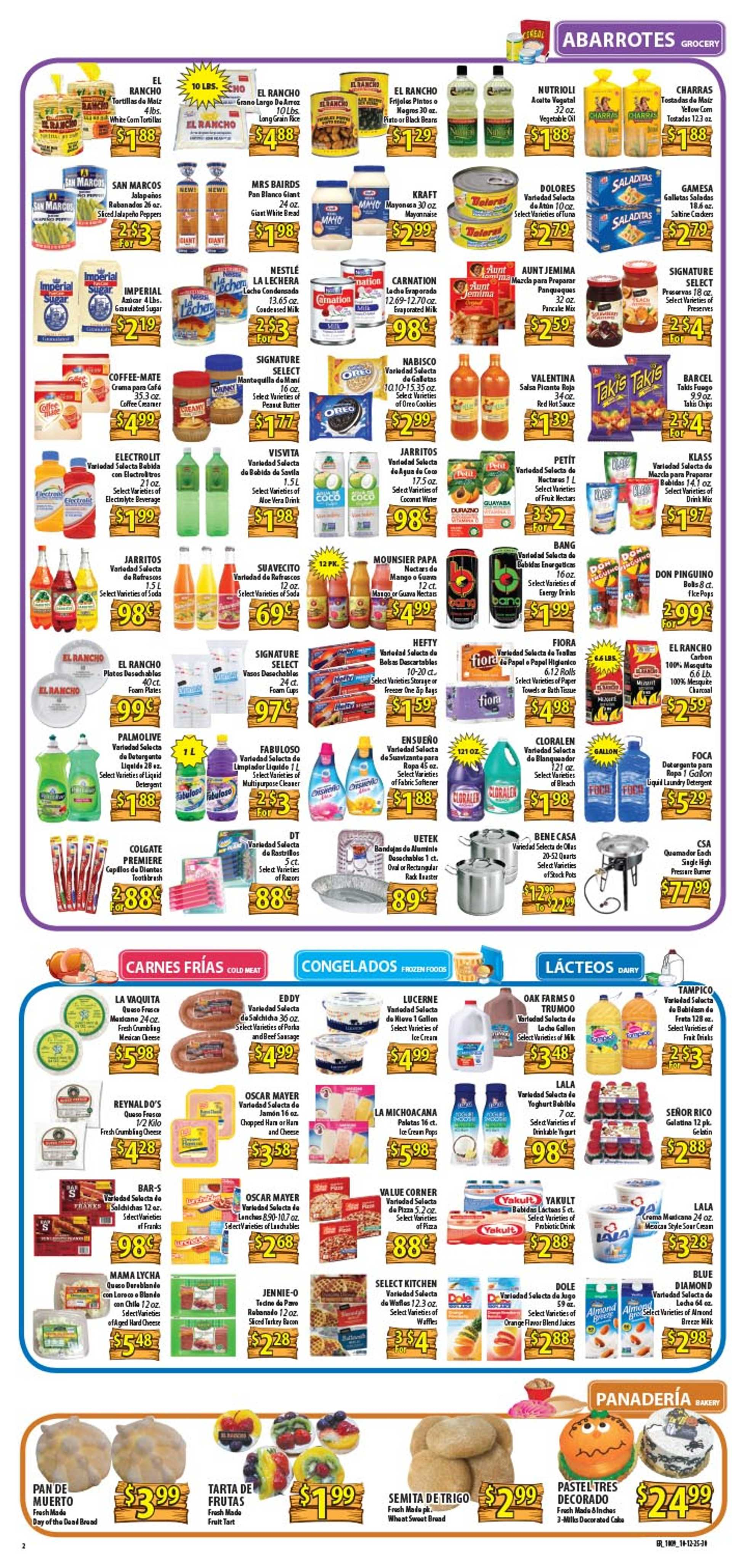 El Rancho Supermarket - deals are valid from 10/09/19 to 10/15/19 - page 2.