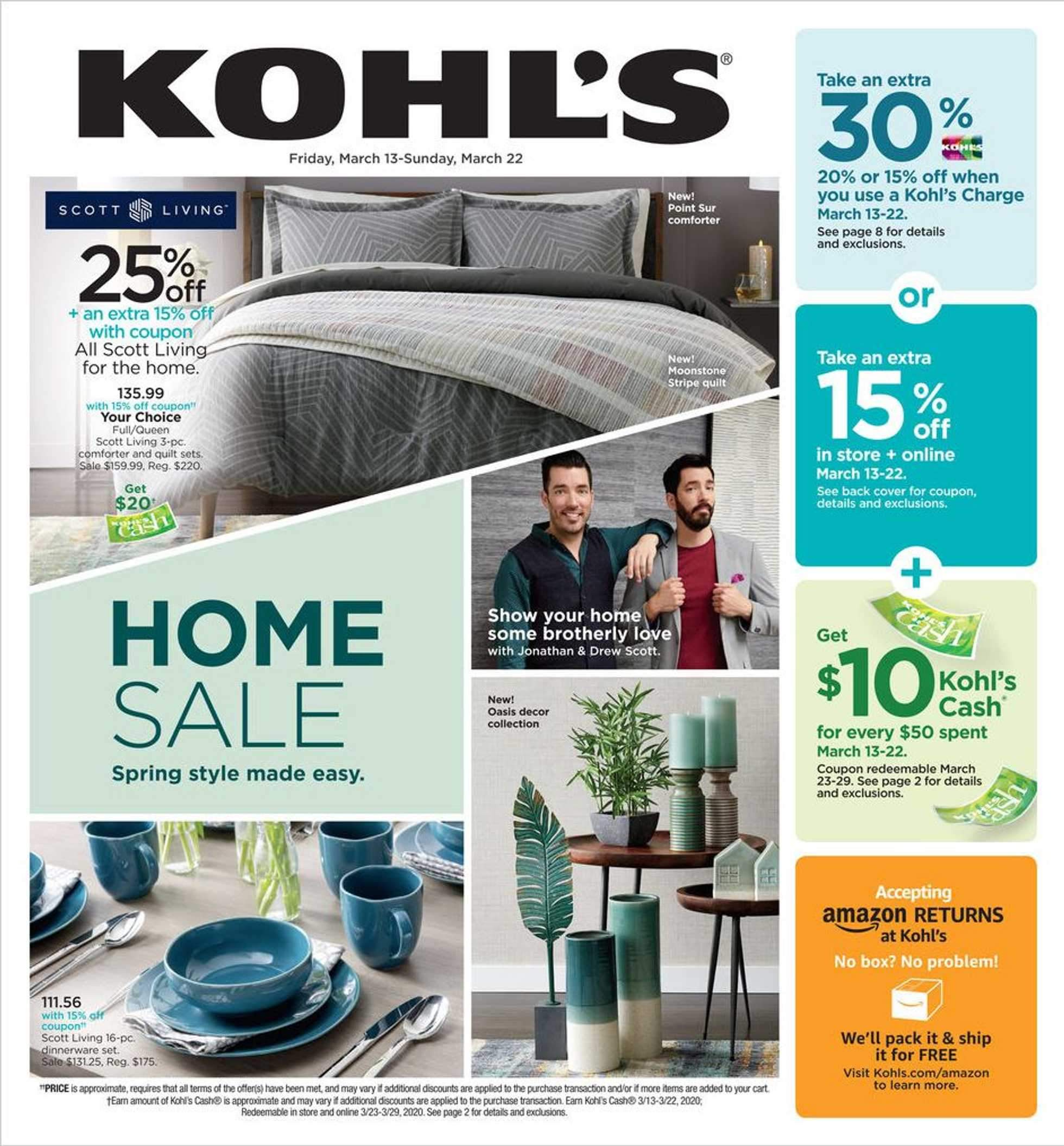 Kohl's - deals are valid from 03/13/20 to 03/22/20 - page 1.