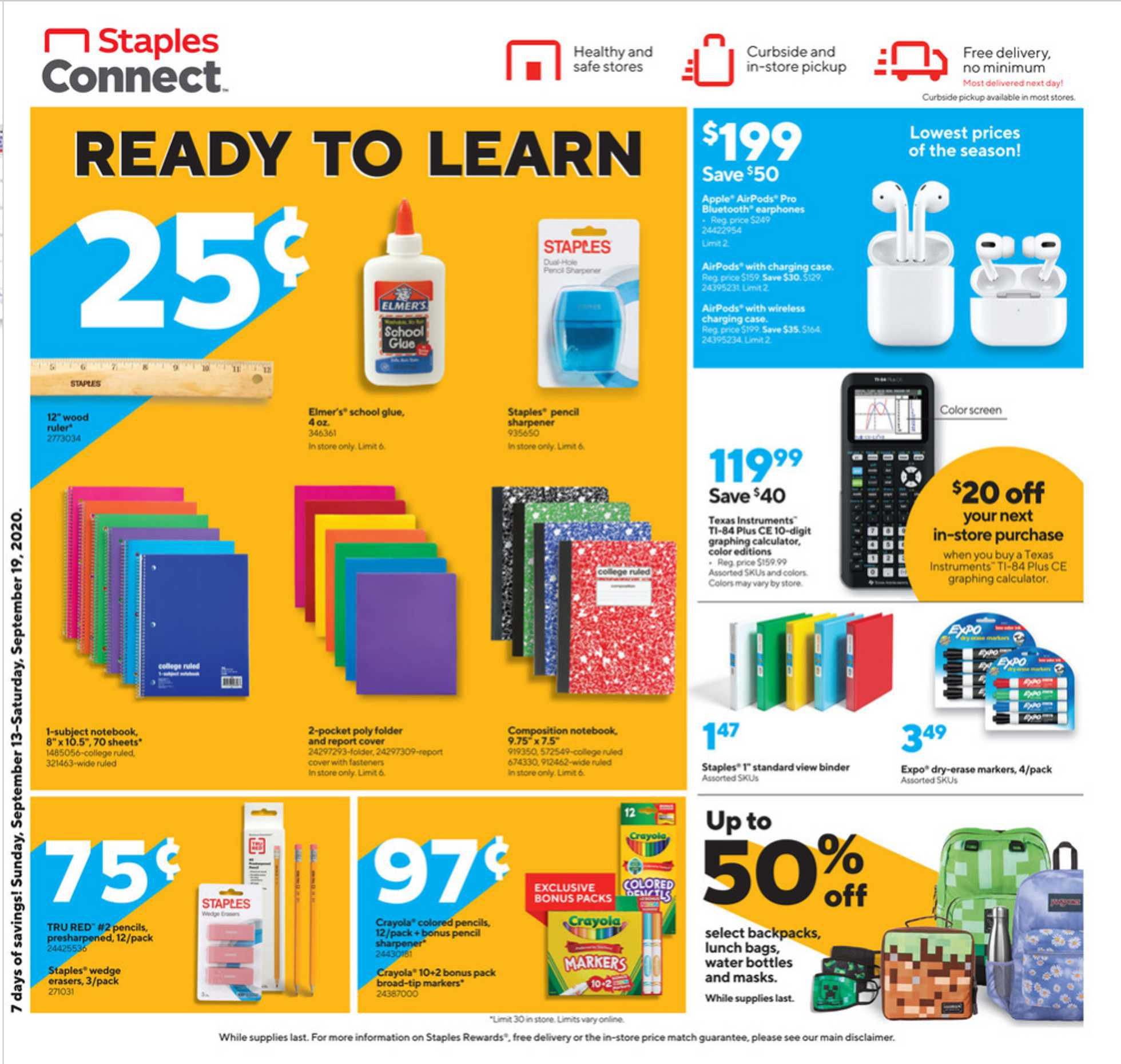 Staples - deals are valid from 09/13/20 to 09/19/20 - page 2.