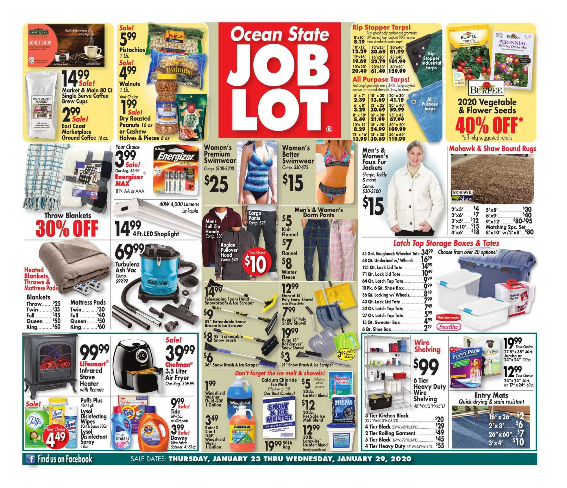 Ocean State Job Lot - promo starting from 01/23/20 to 01/29/20 - page 1.