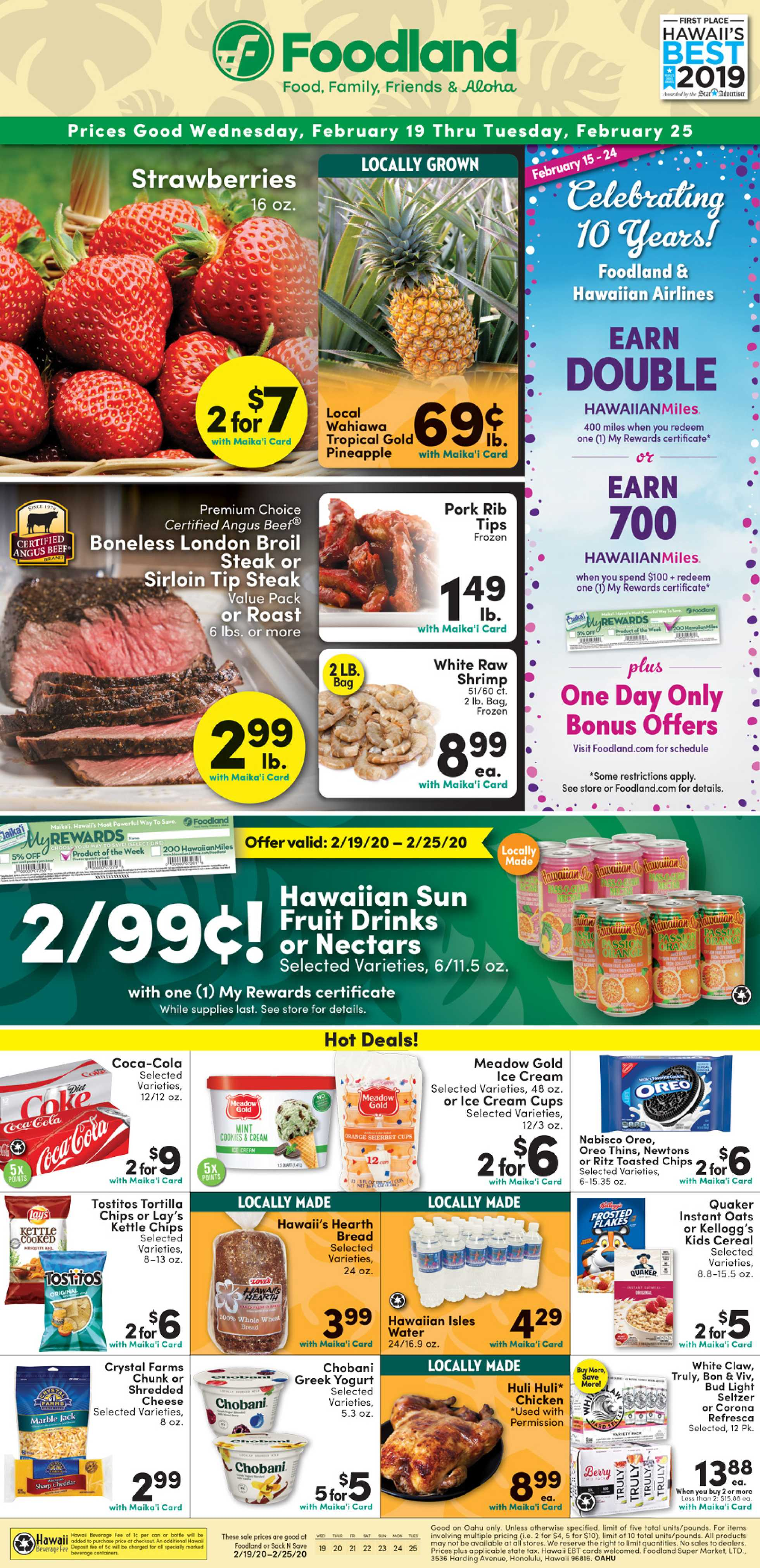 Foodland - promo starting from 02/19/20 to 02/25/20 - page 1.