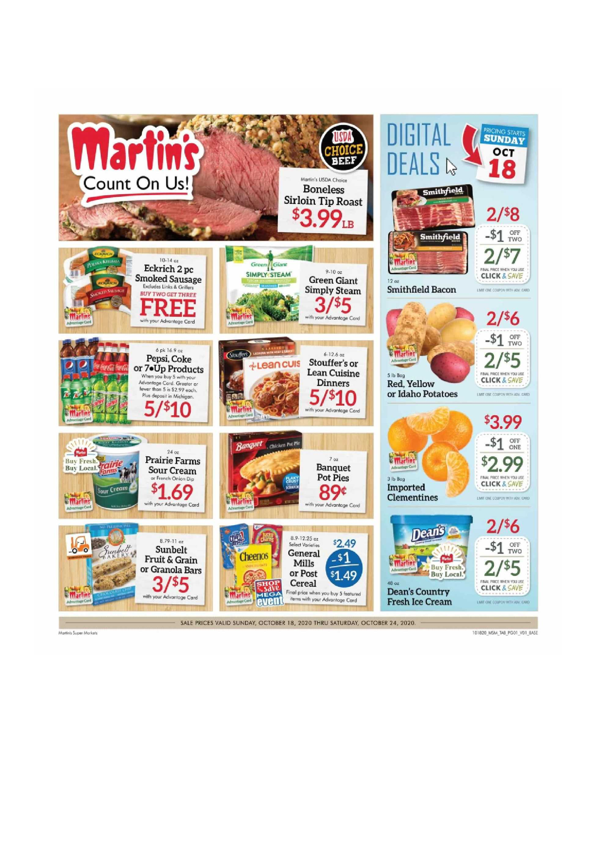 Martin's - deals are valid from 10/18/20 to 10/24/20 - page 1.