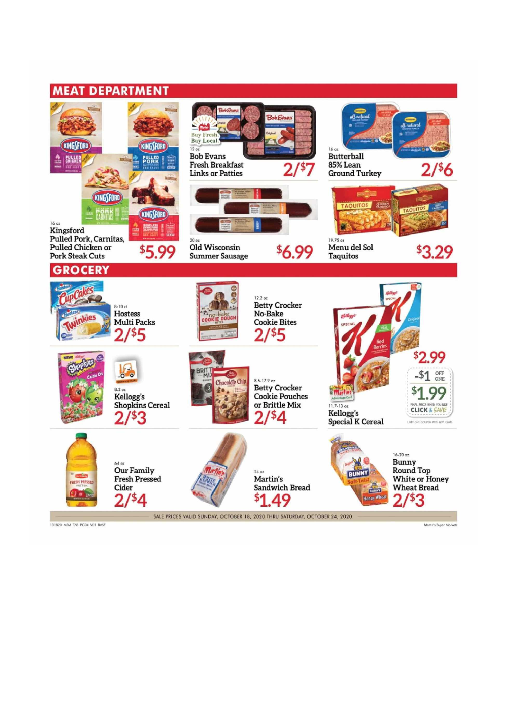 Martin's - deals are valid from 10/18/20 to 10/24/20 - page 4.