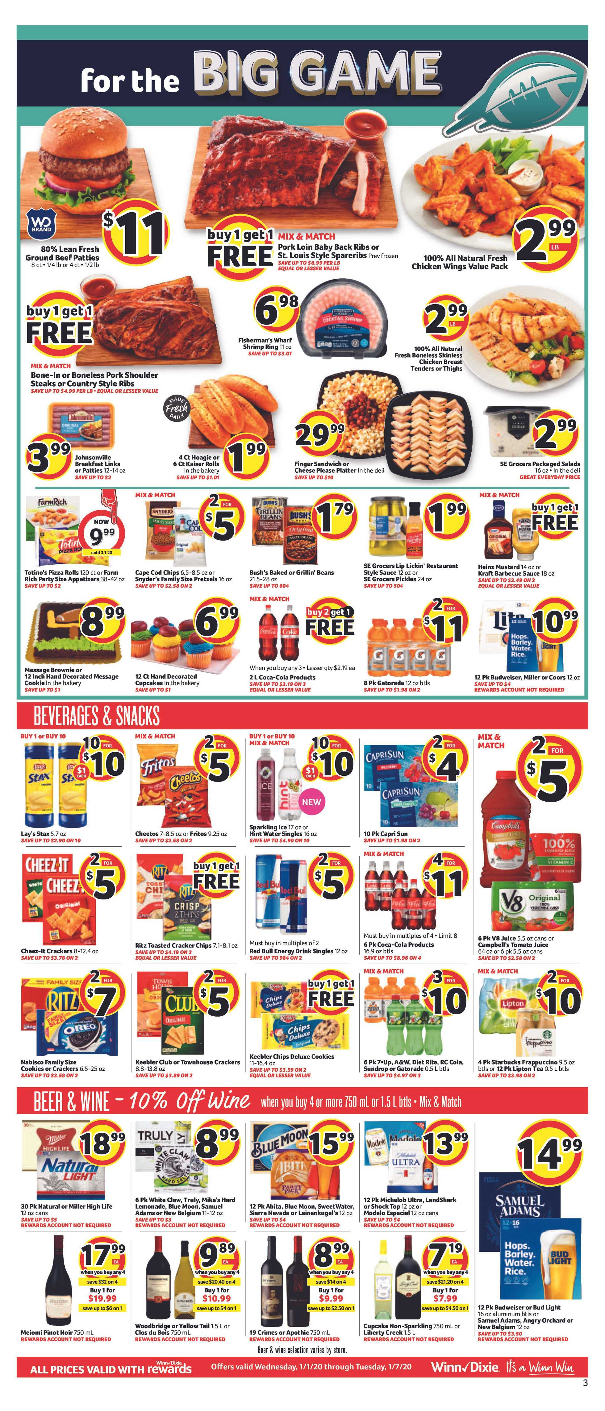 Winn Dixie - deals are valid from 01/01/20 to 01/07/20 - page 3.